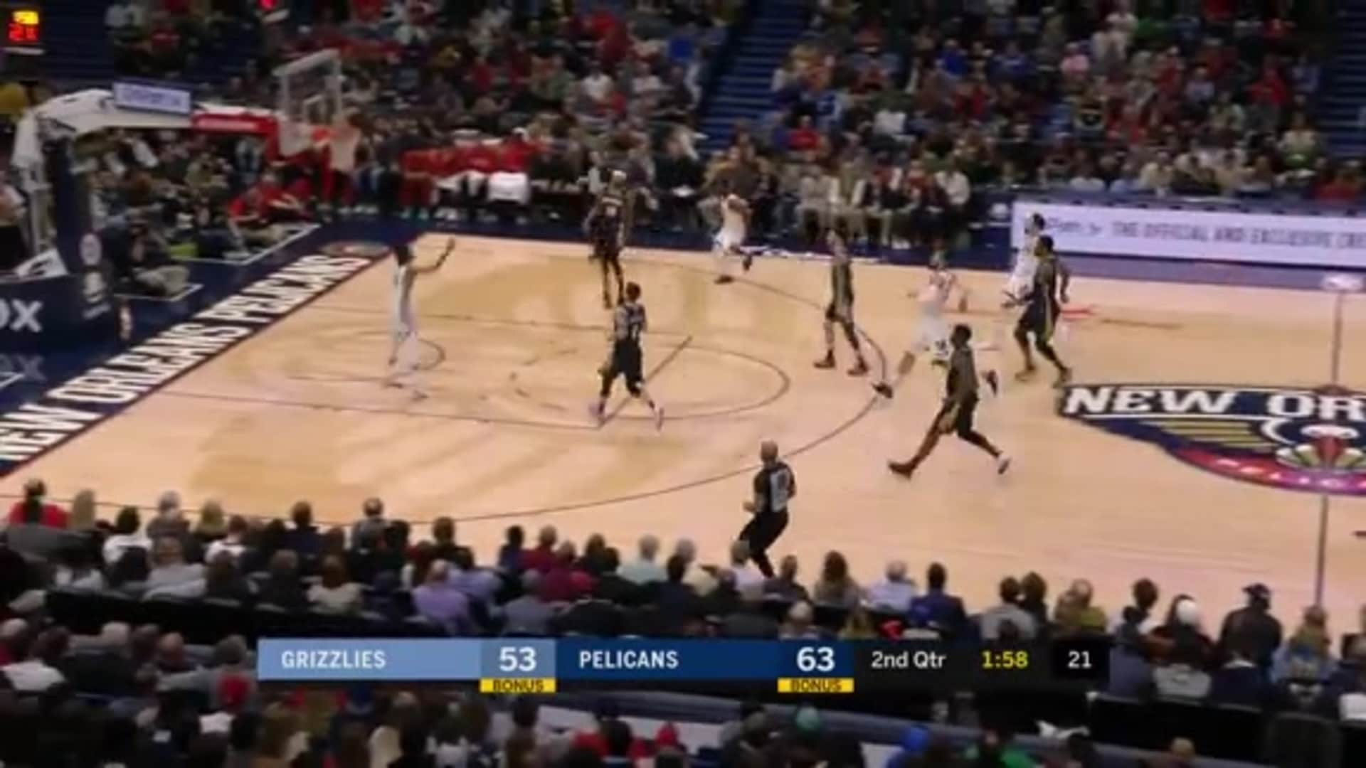 Dillon Brooks finds Ja for a CAN'T MISS alley-oop!