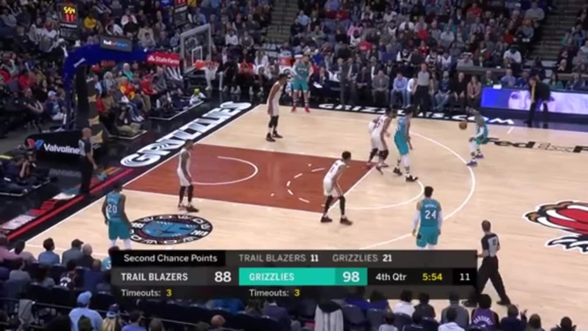 Brandon Clarke is on fire with another slam