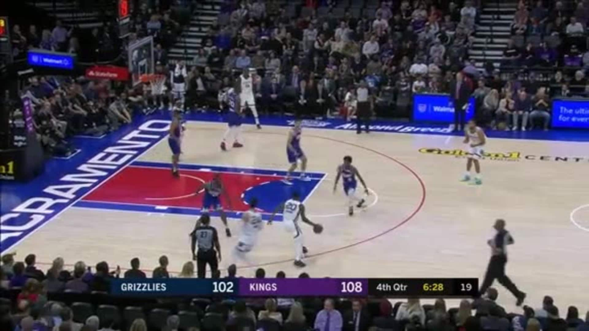 Josh Jackson puts his defender through a nasty spin-cycle