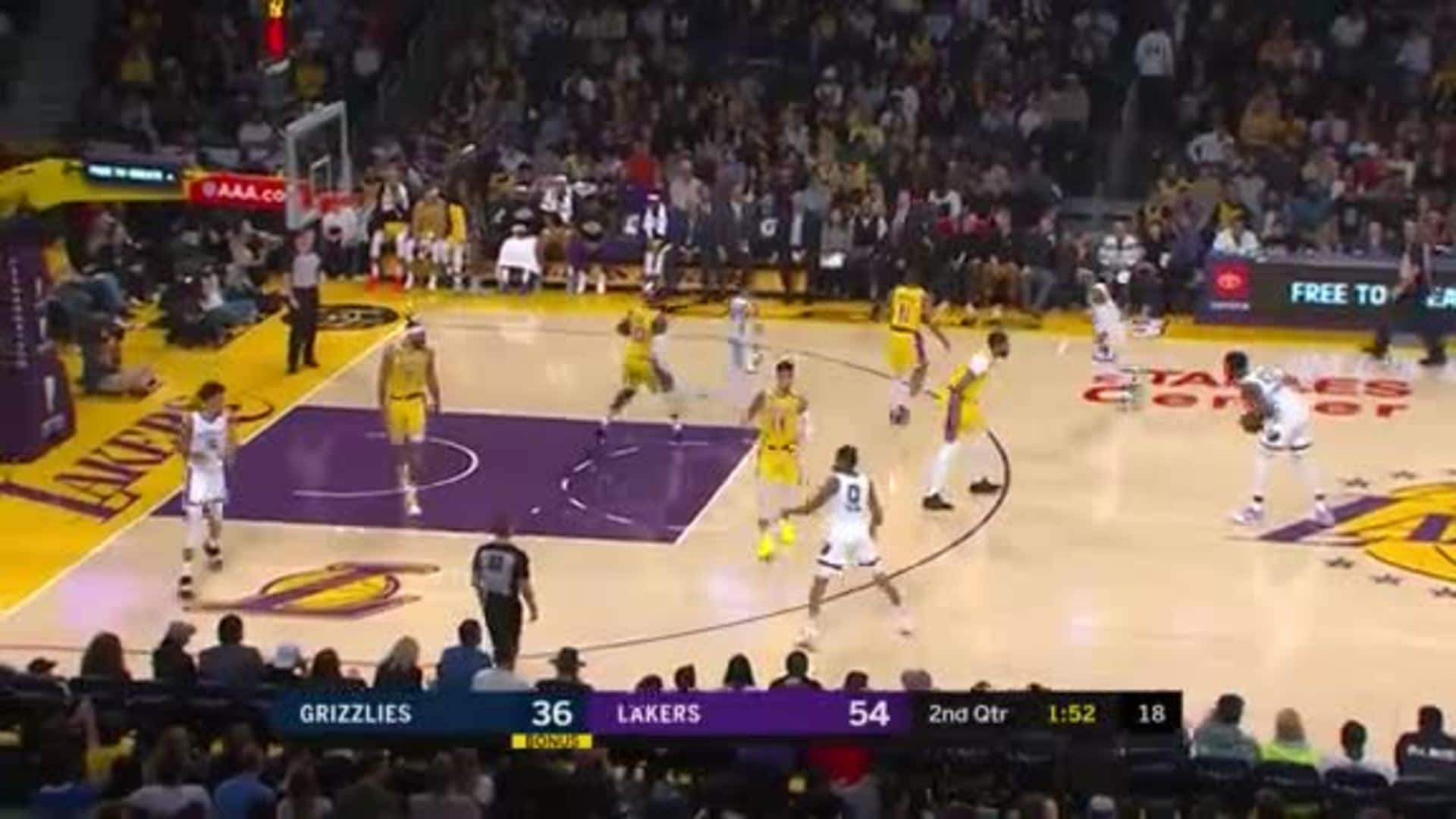Dillon Brooks dials in for three