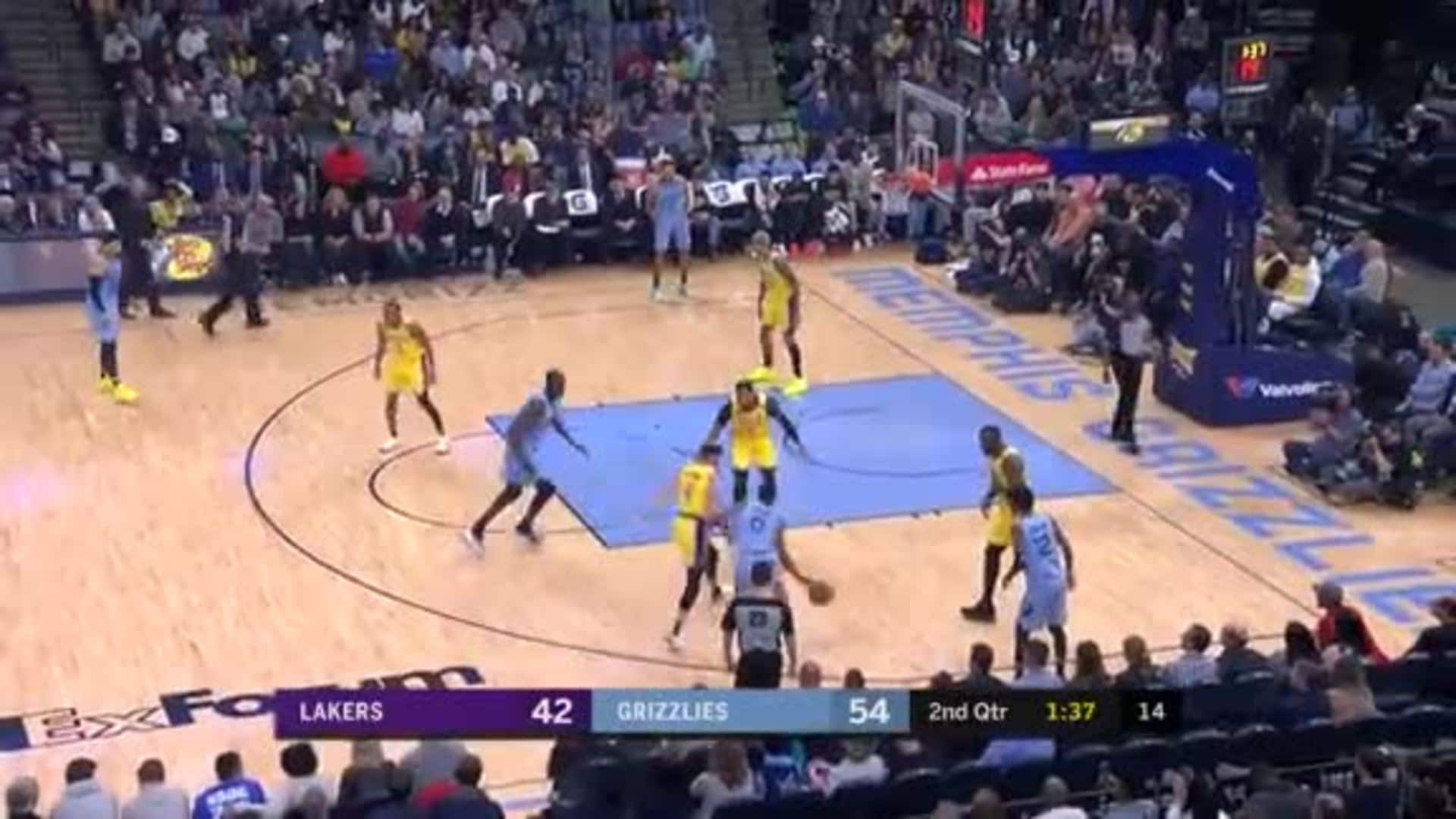 Dillon Brooks finishes with a nice floater