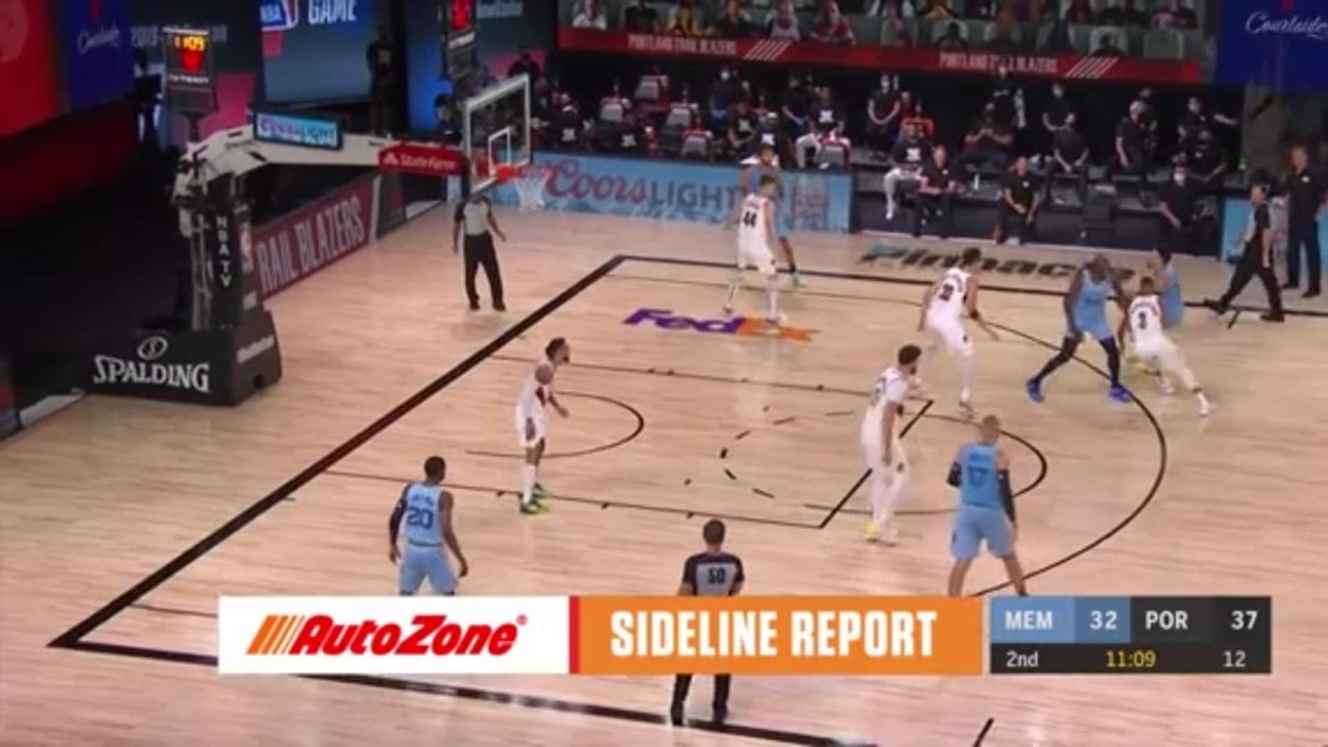 Dillon Brooks pulls up for three