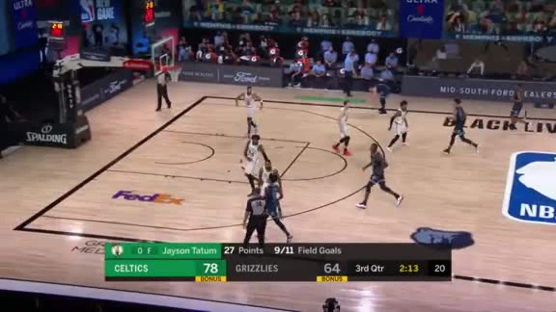 Grayson Allen on the wing for three