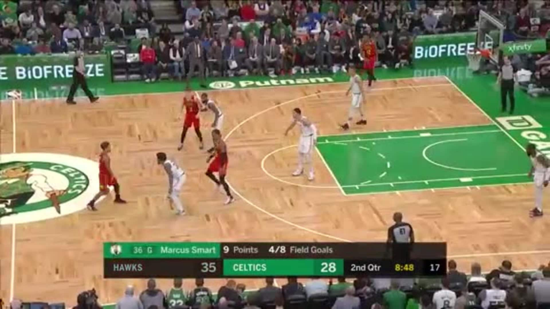 Young Notches Double-Double In Close Contest vs. Celtics
