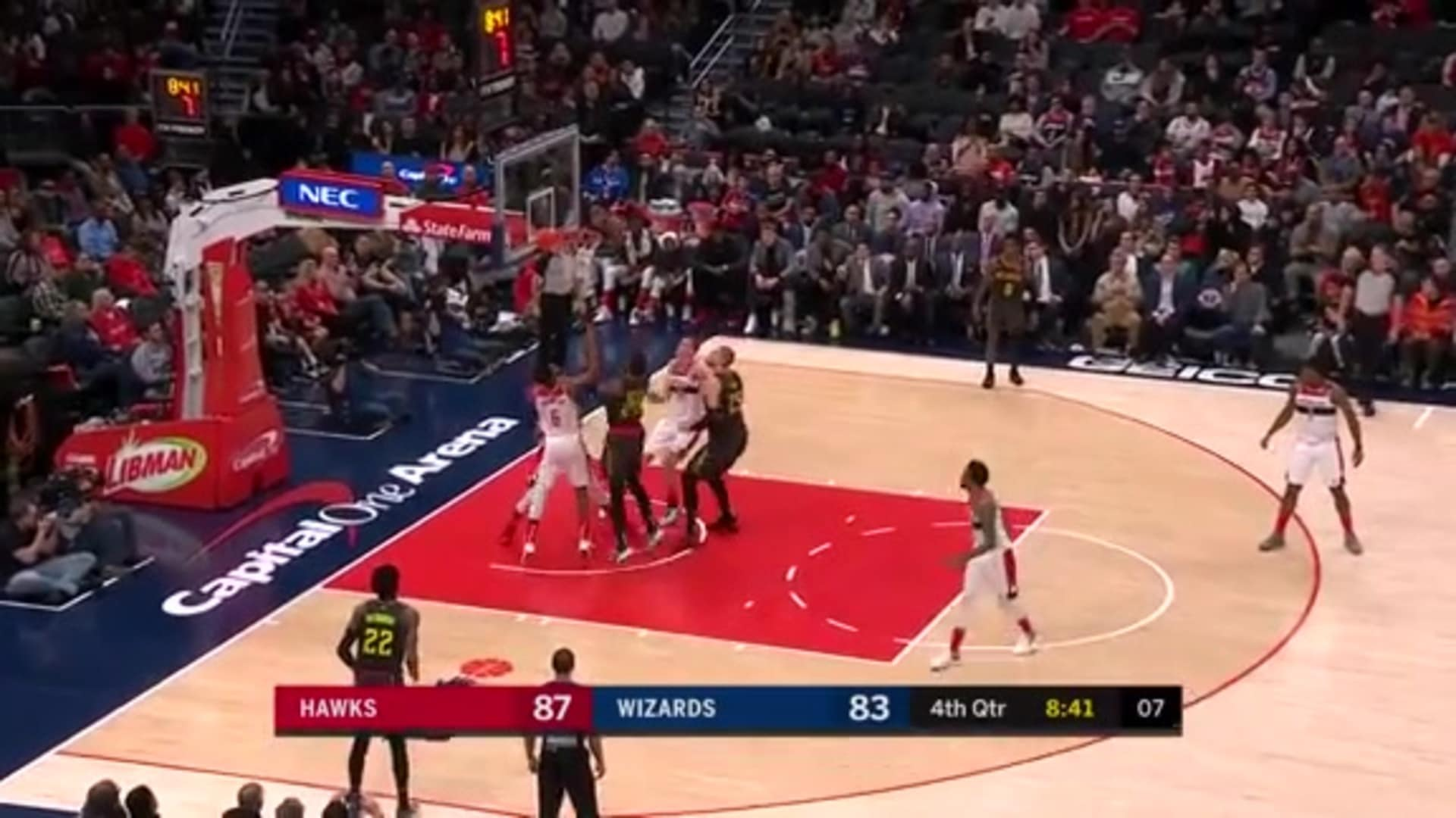 Collins Puts Up Double-Double vs. Wizards
