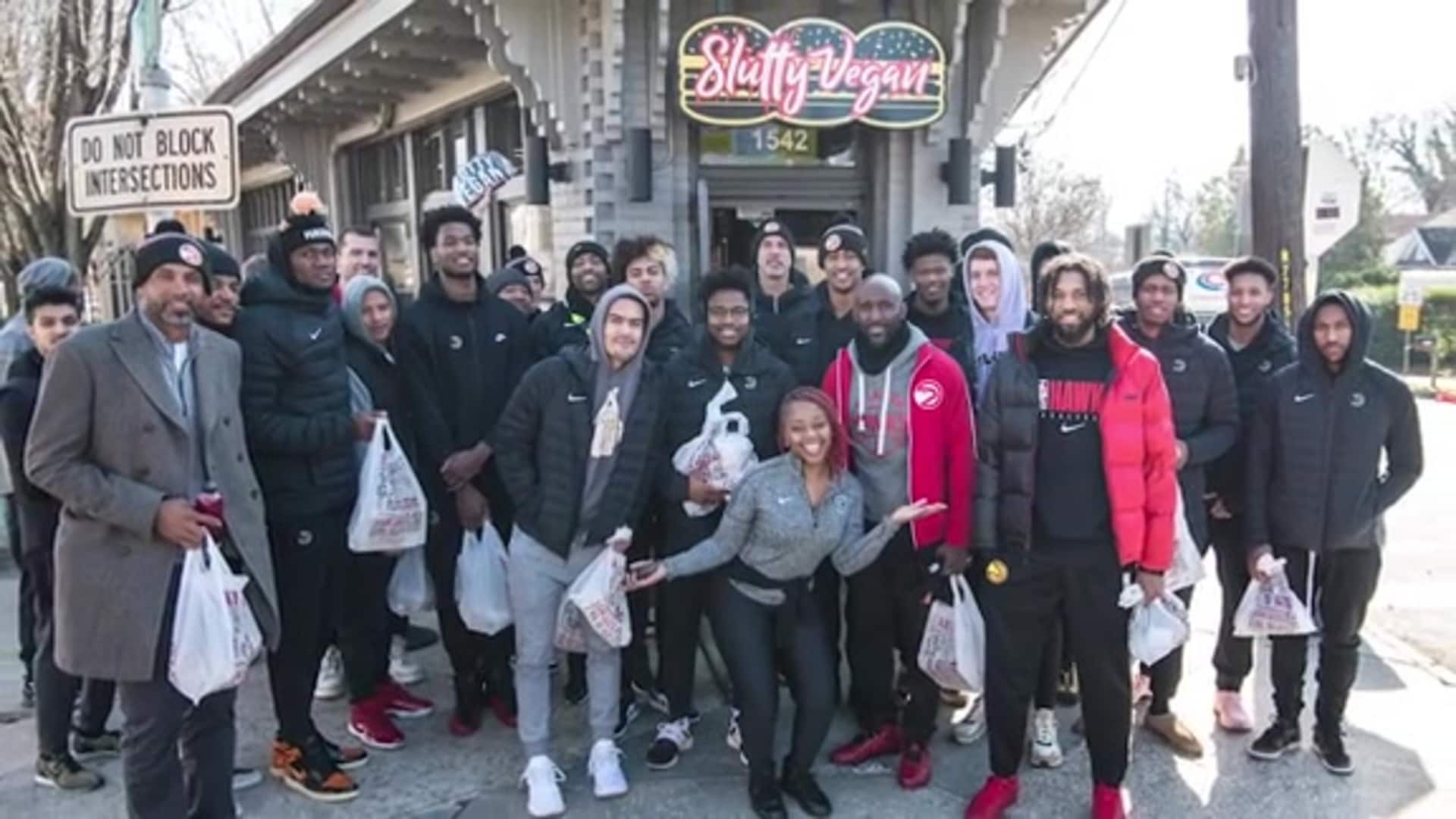 Hawks Have Team Outing, Spend