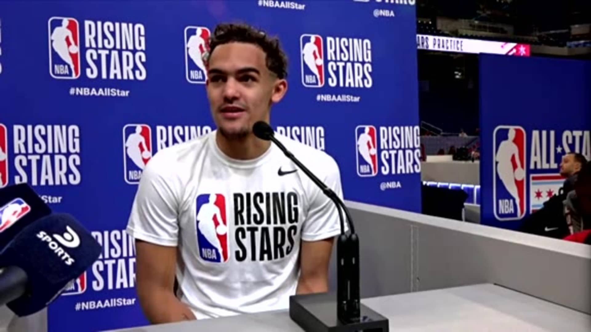 Trae Young Talks About Young Talent, Kobe Bryant All-Star Moments At Rising Stars Media Day
