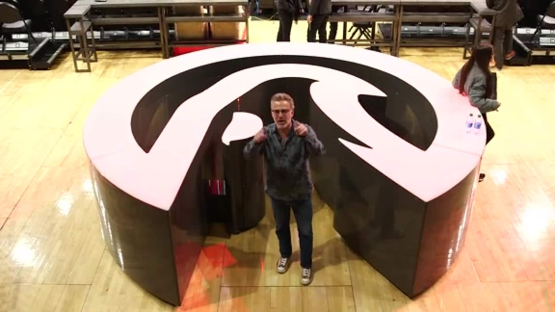 SportsCenter's Neil Everett Visits New State Farm Arena