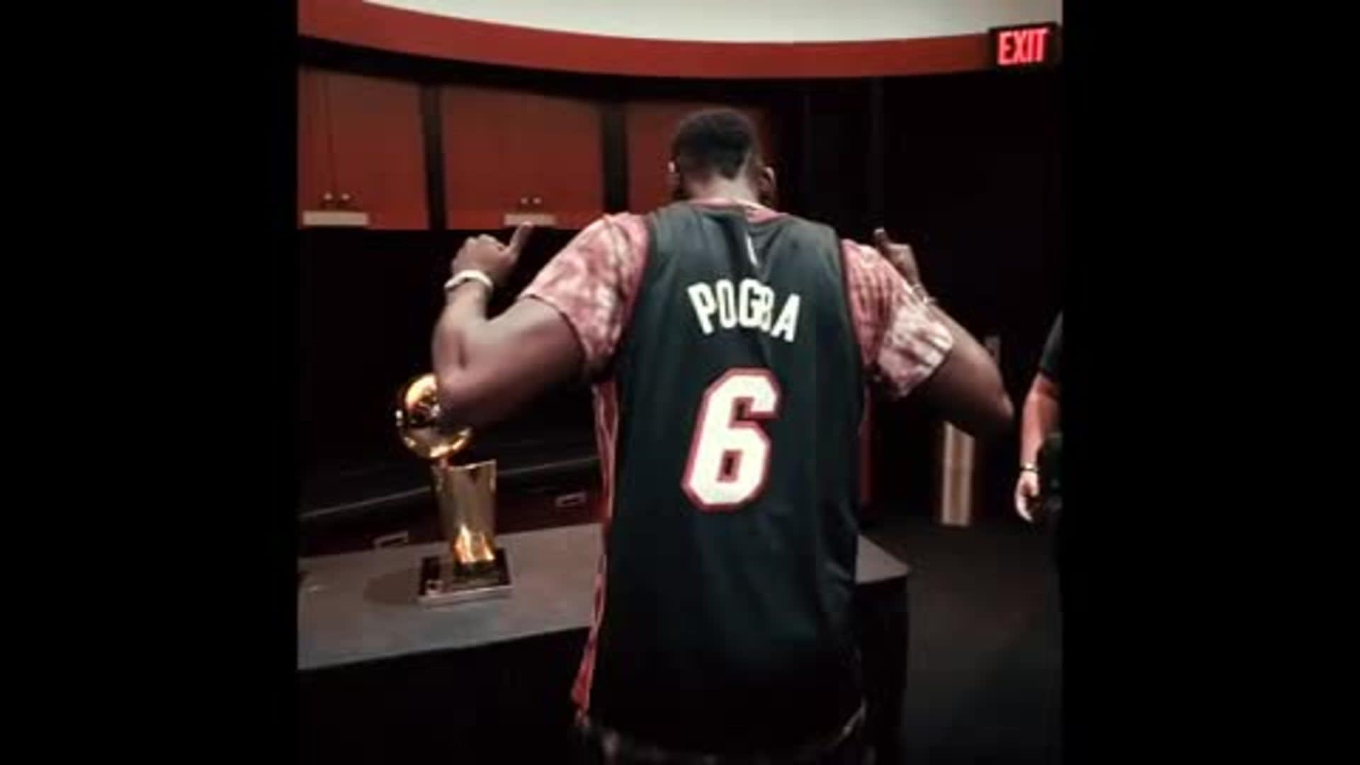 Pogba Visits HEAT