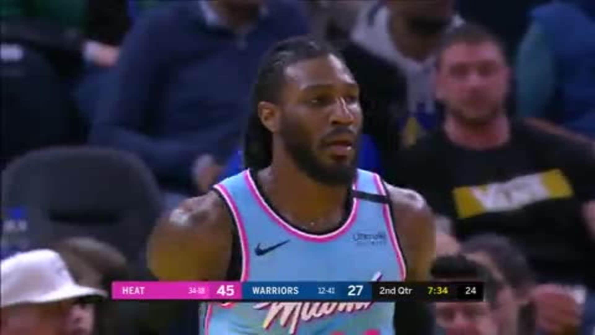 Crowder Cooks Warriors for 16 First Half Points