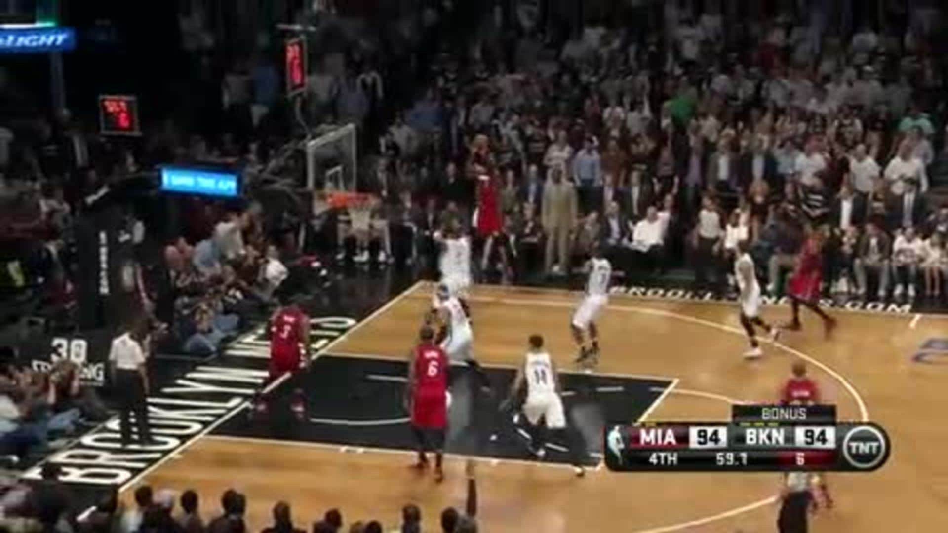 Chris Bosh Hits A Three