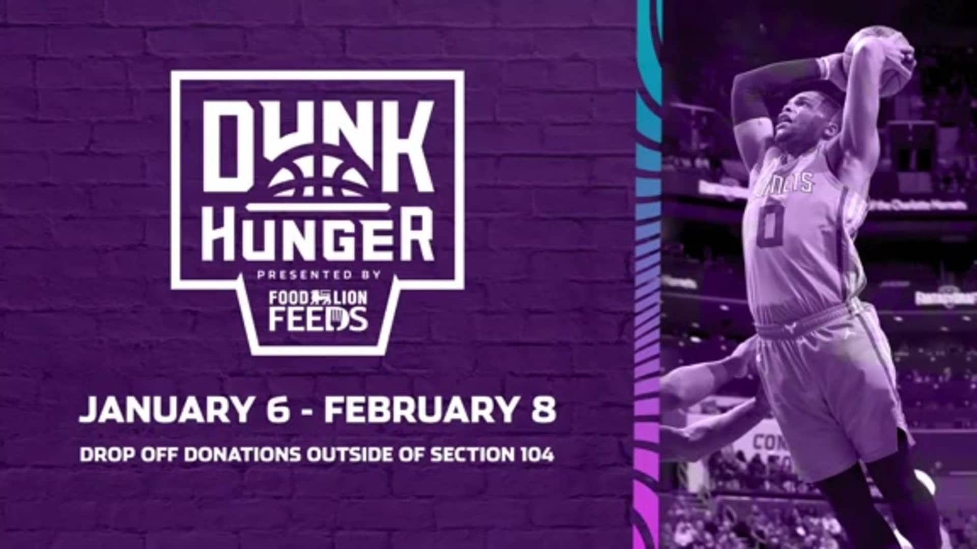 Recap | Dunk Hunger Food Drive Build Out - 1/8/20