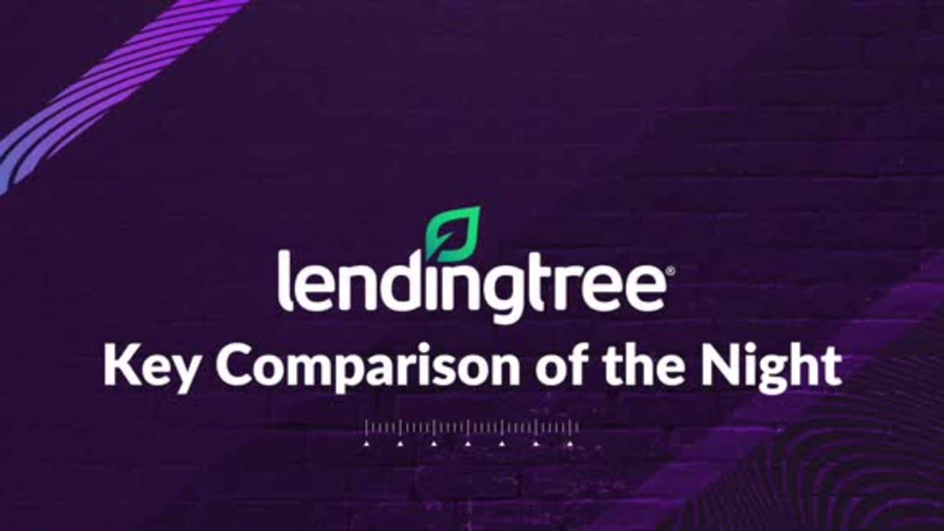LendingTree's Key Comparison of the Night - 1/20/20