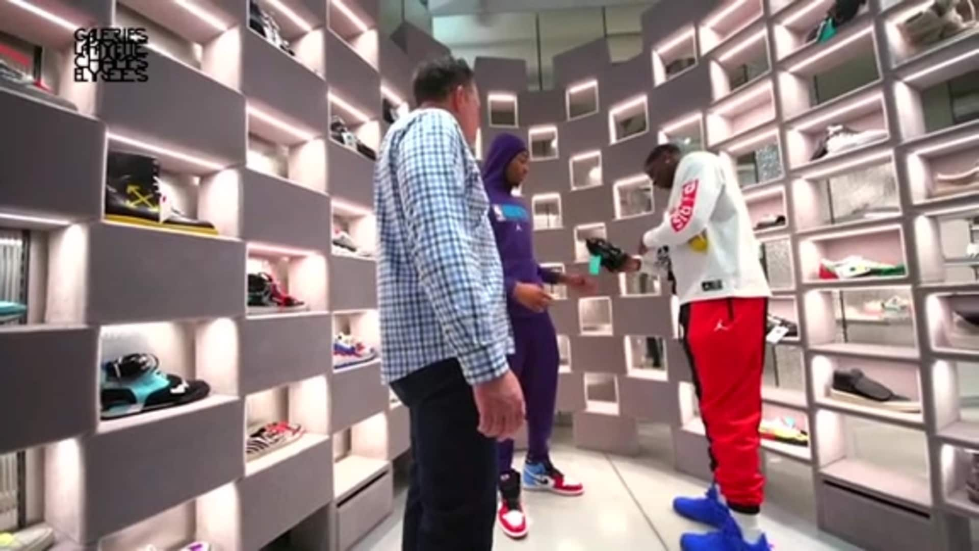 Hornets Paris | Dwayne and P.J. take Eric Collins Shopping - 1/24/20