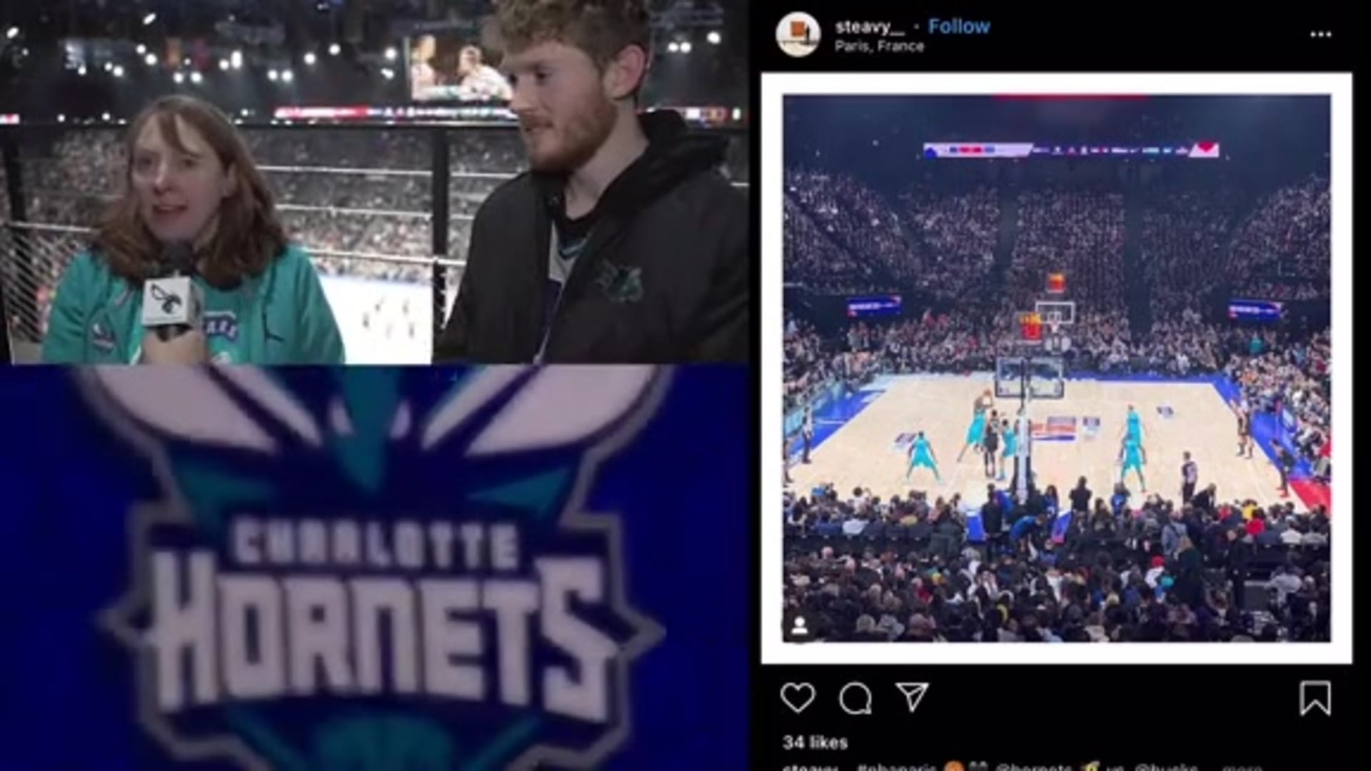 Hornets Fans Travel, Have a Blast in France
