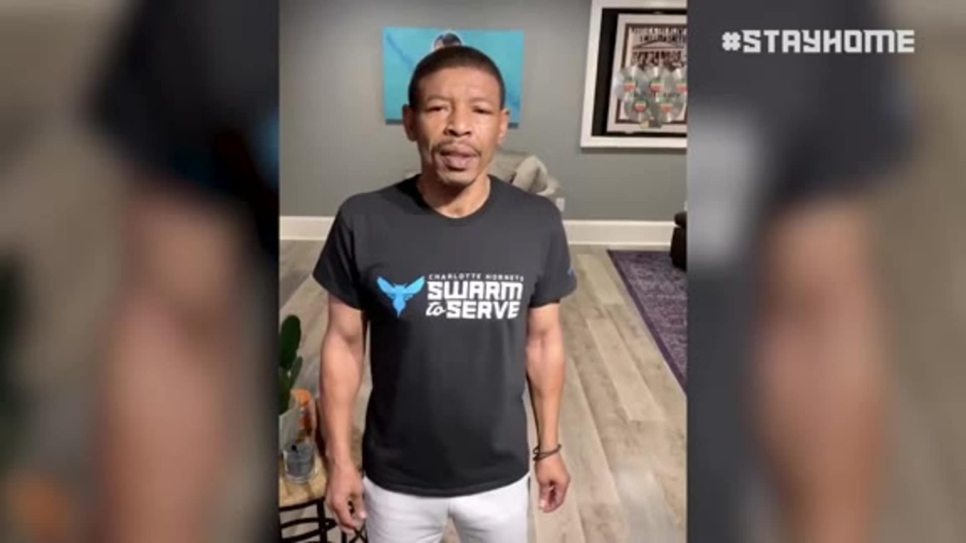 Muggsy Encourages Us to Stay Safe, Stay Healthy and Stay Home