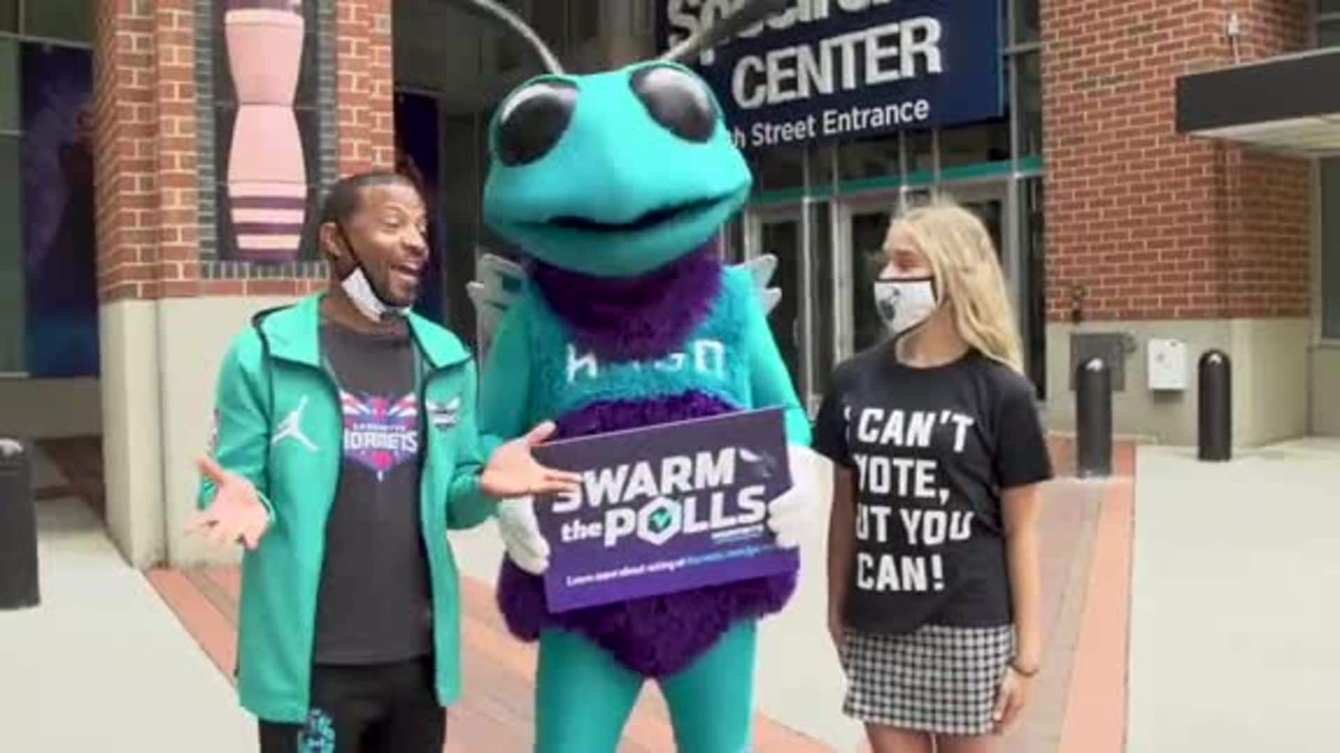Hornets Encourage Fans to Get Out and Vote