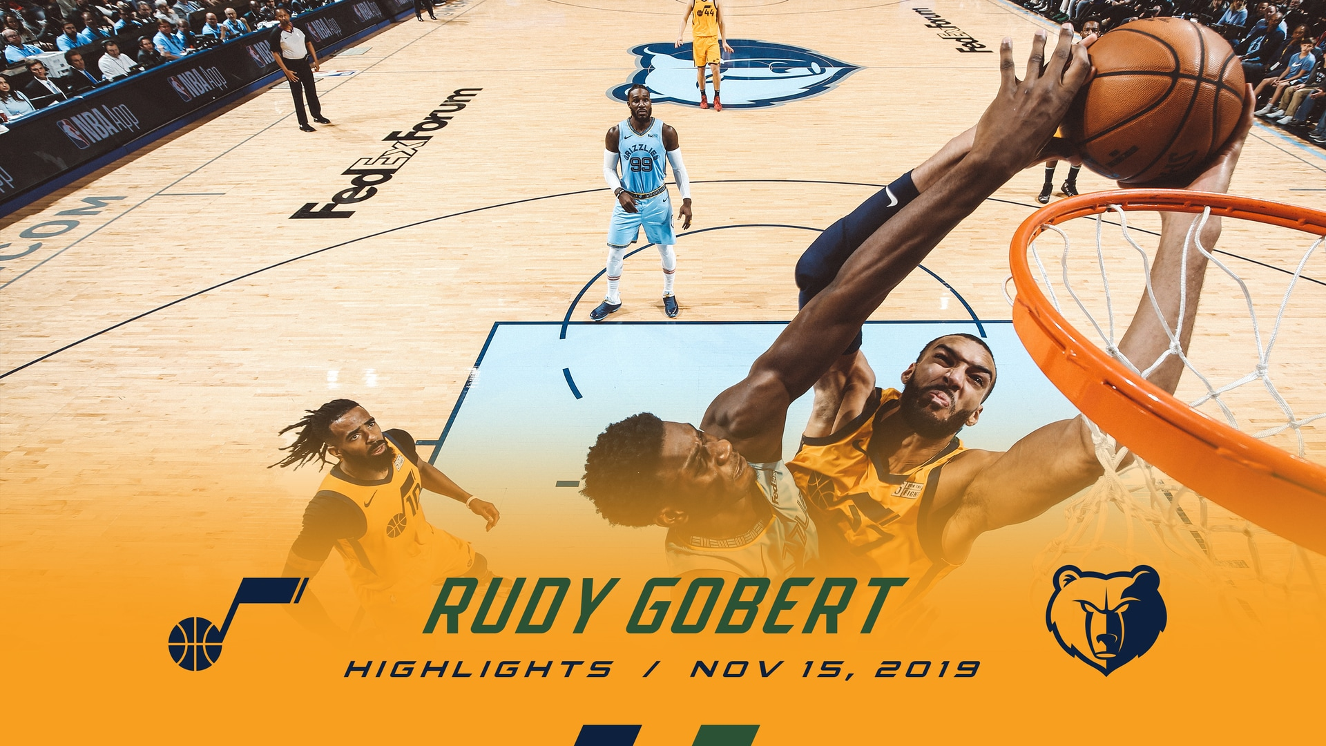 Highlights: Rudy Gobert—23 points, 17 rebounds, 5 blocks