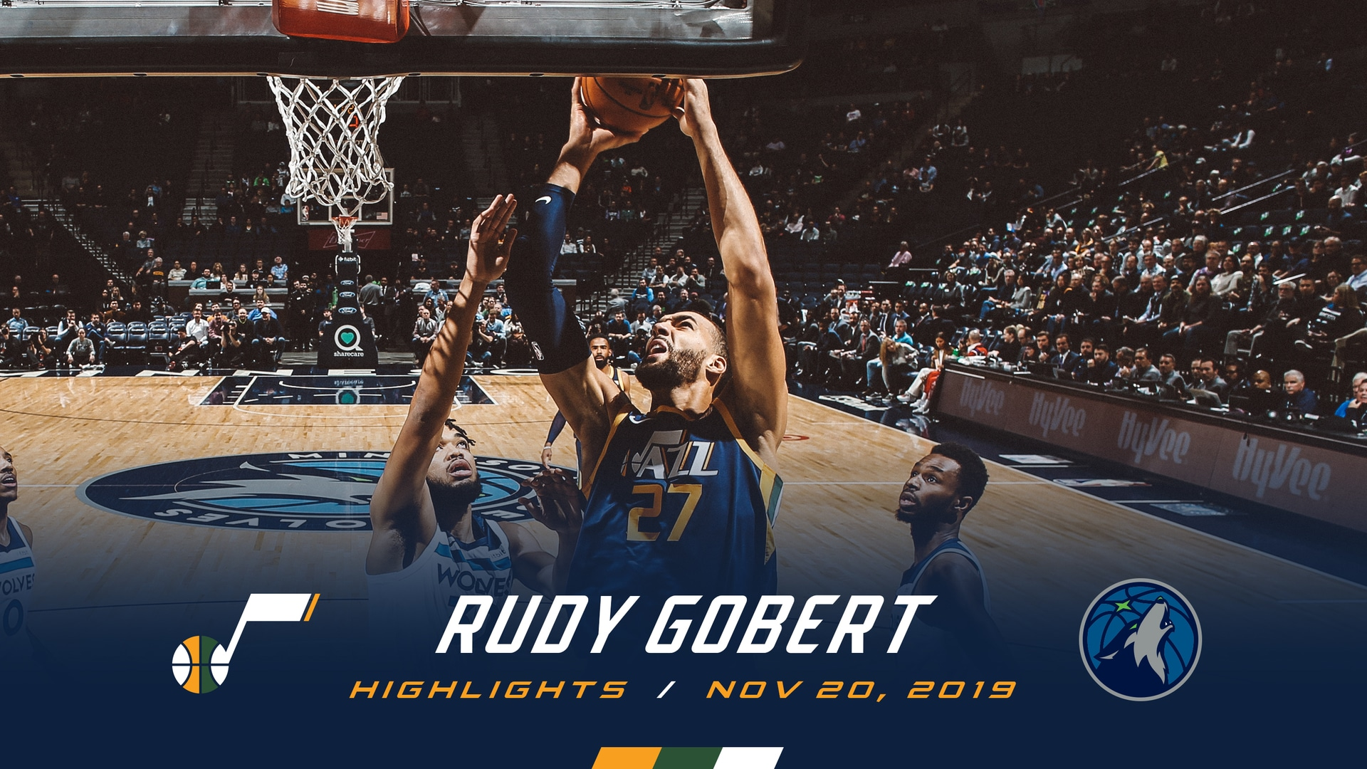 Highlights: Rudy Gobert—15 rebounds, 12 points