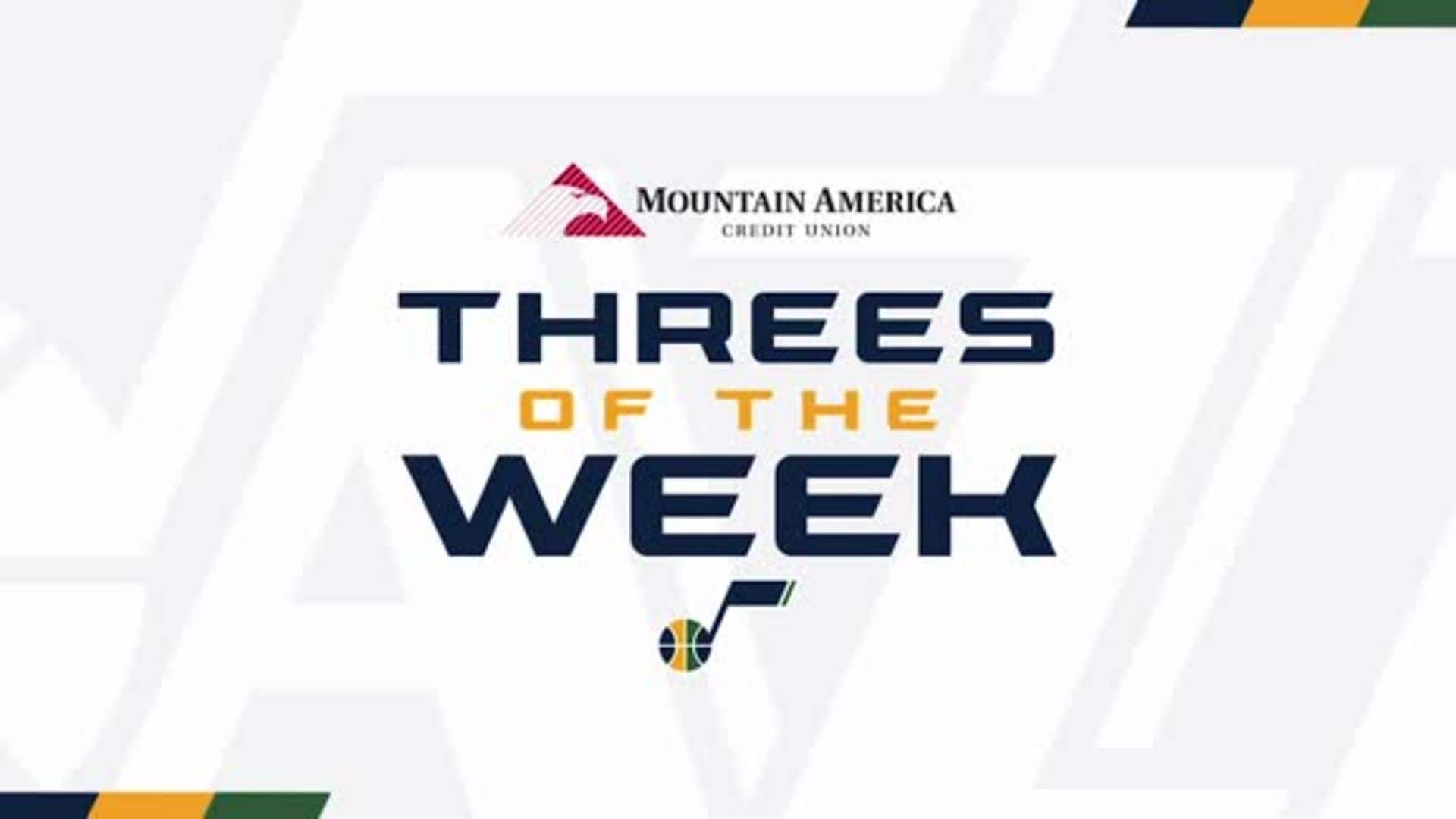 Threes of the Week - 12.16.19