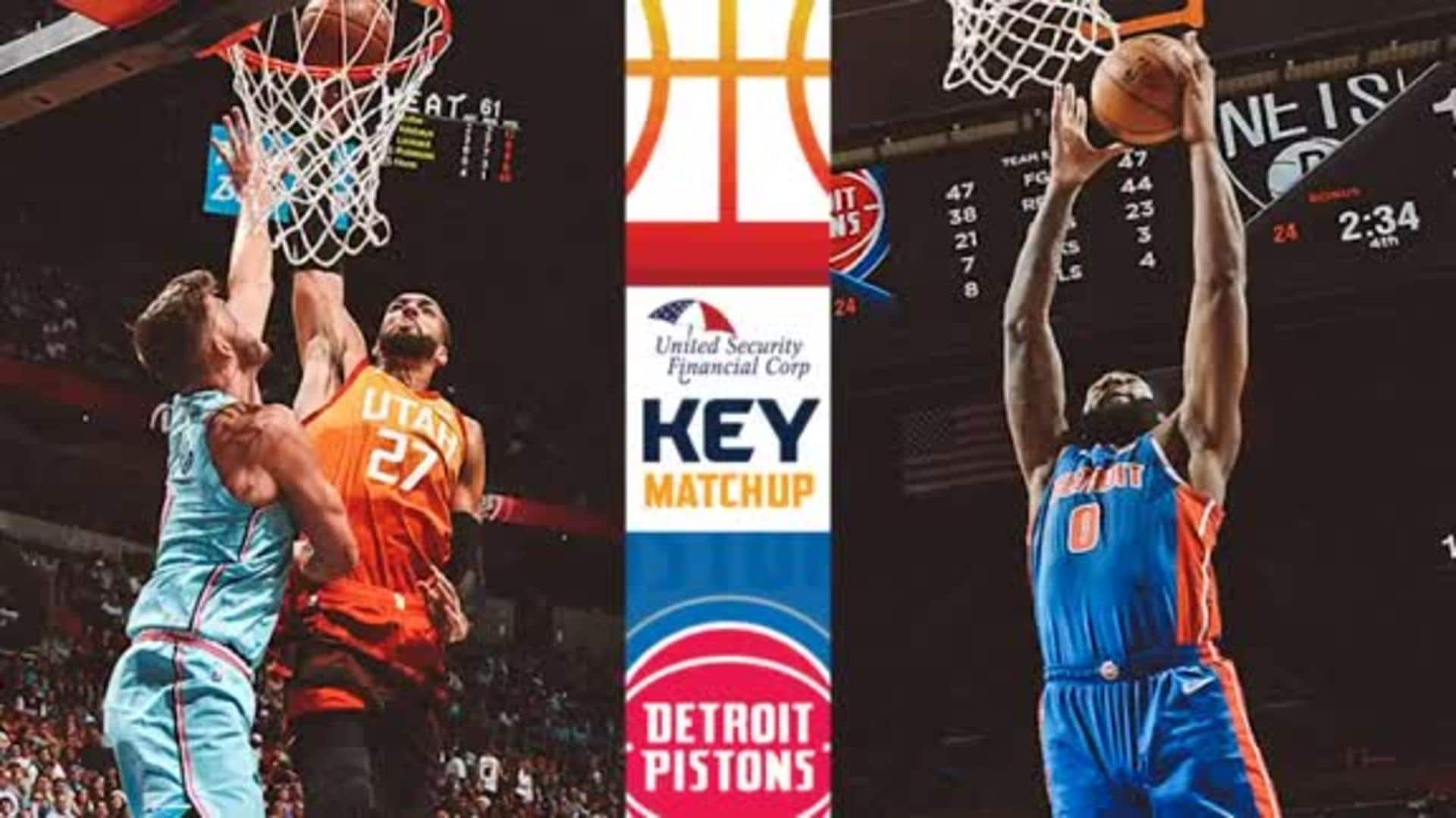 Key Matchup: Rudy Gobert vs. Andre Drummond