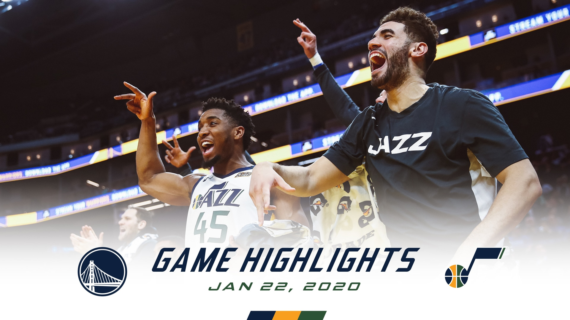 Highlights—Jazz 129 | Warriors 96