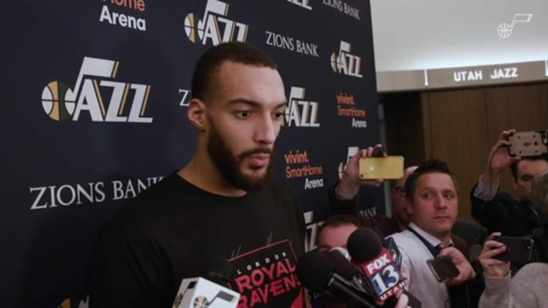 Postgame Interviews, 1.25 — Rudy Gobert