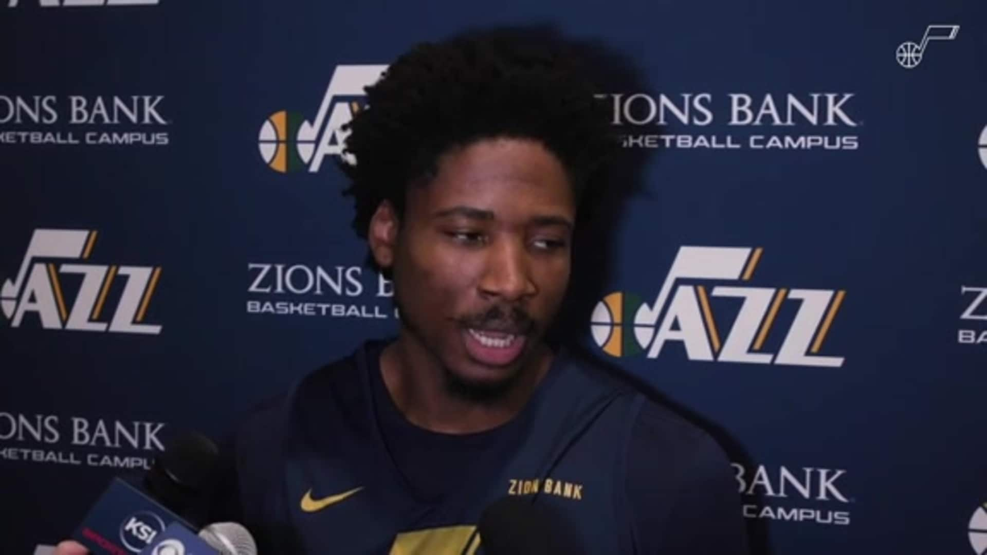 Shootaround Interviews: Ed Davis on being teammates with Kobe