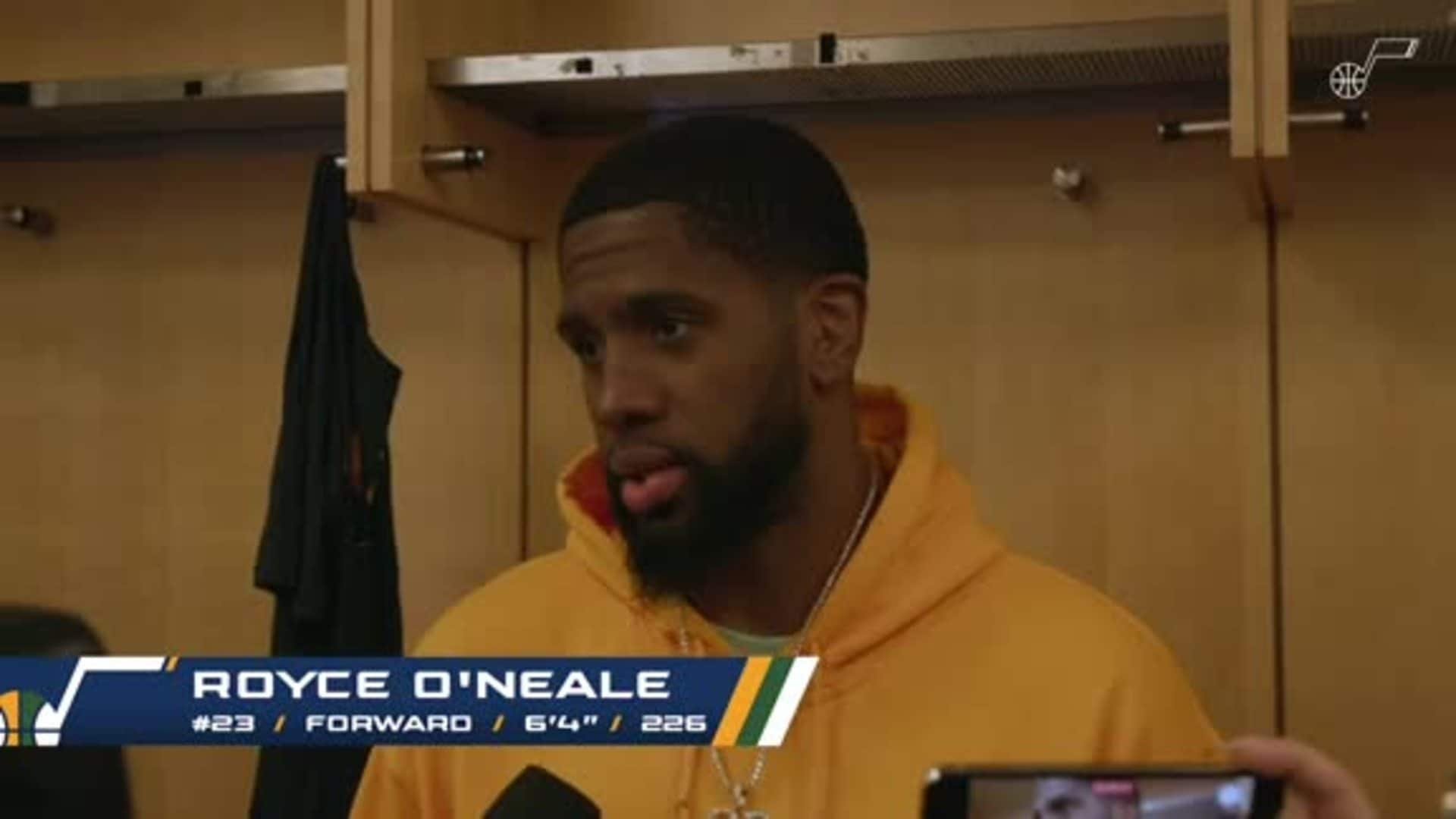 Postgame Interviews, 3.4—Royce O'Neale