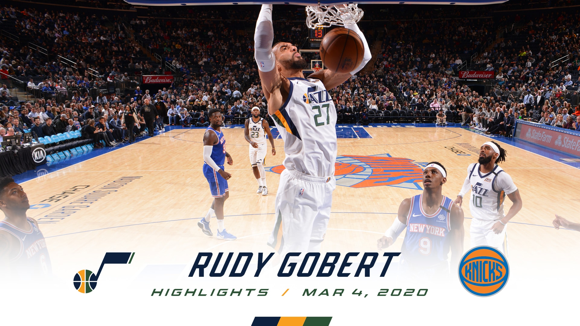 Highlights: Rudy Gobert—18 Points, 14 Rebounds