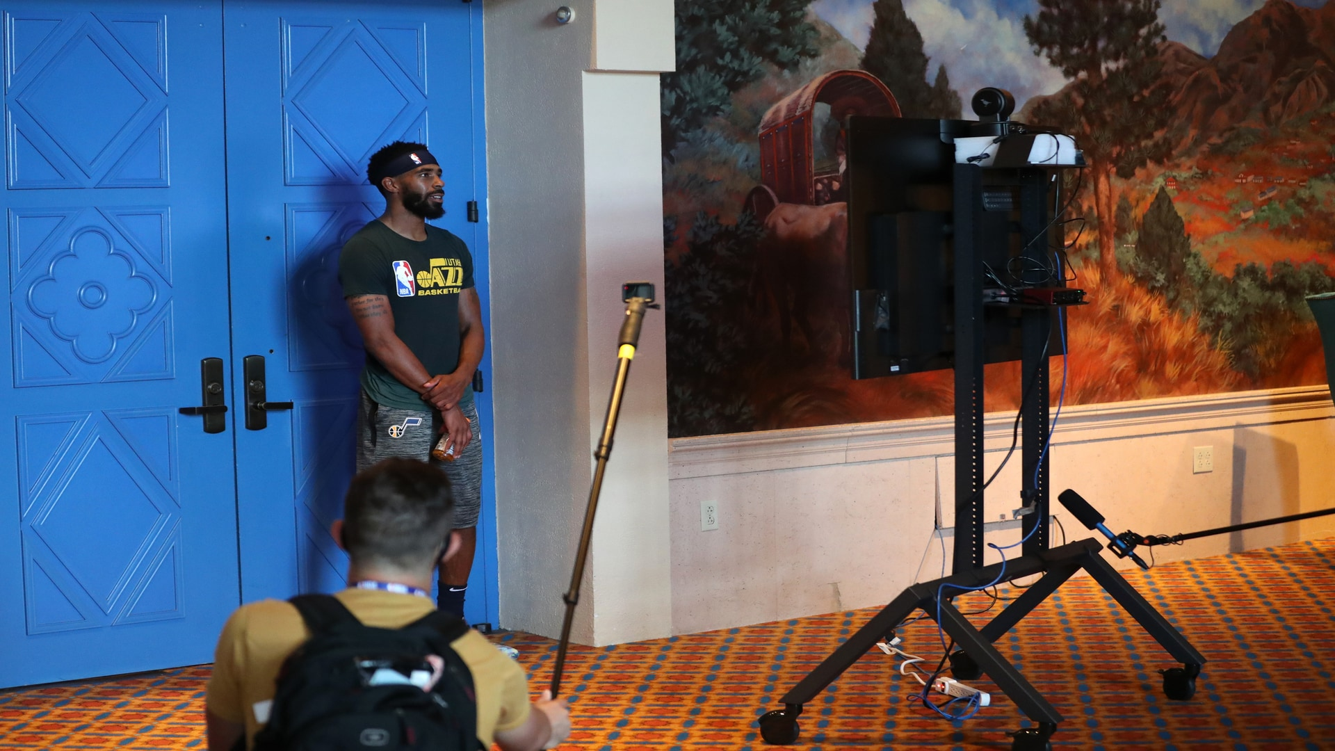 First media availability from Orlando - Mike Conley, Coach Quin Snyder & Rudy Gobert