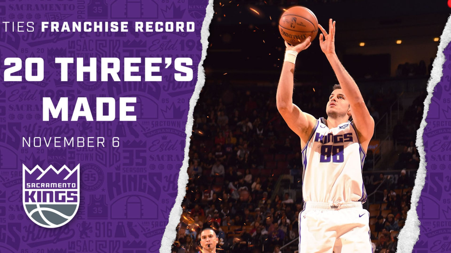 Kings Tie Franchise RECORD with 20 3-Pointers Made | Kings vs. Raptors