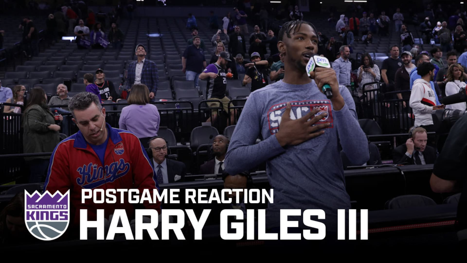 'Sactown love all day!' | Harry Giles III Postgame Reaction 11.12.19
