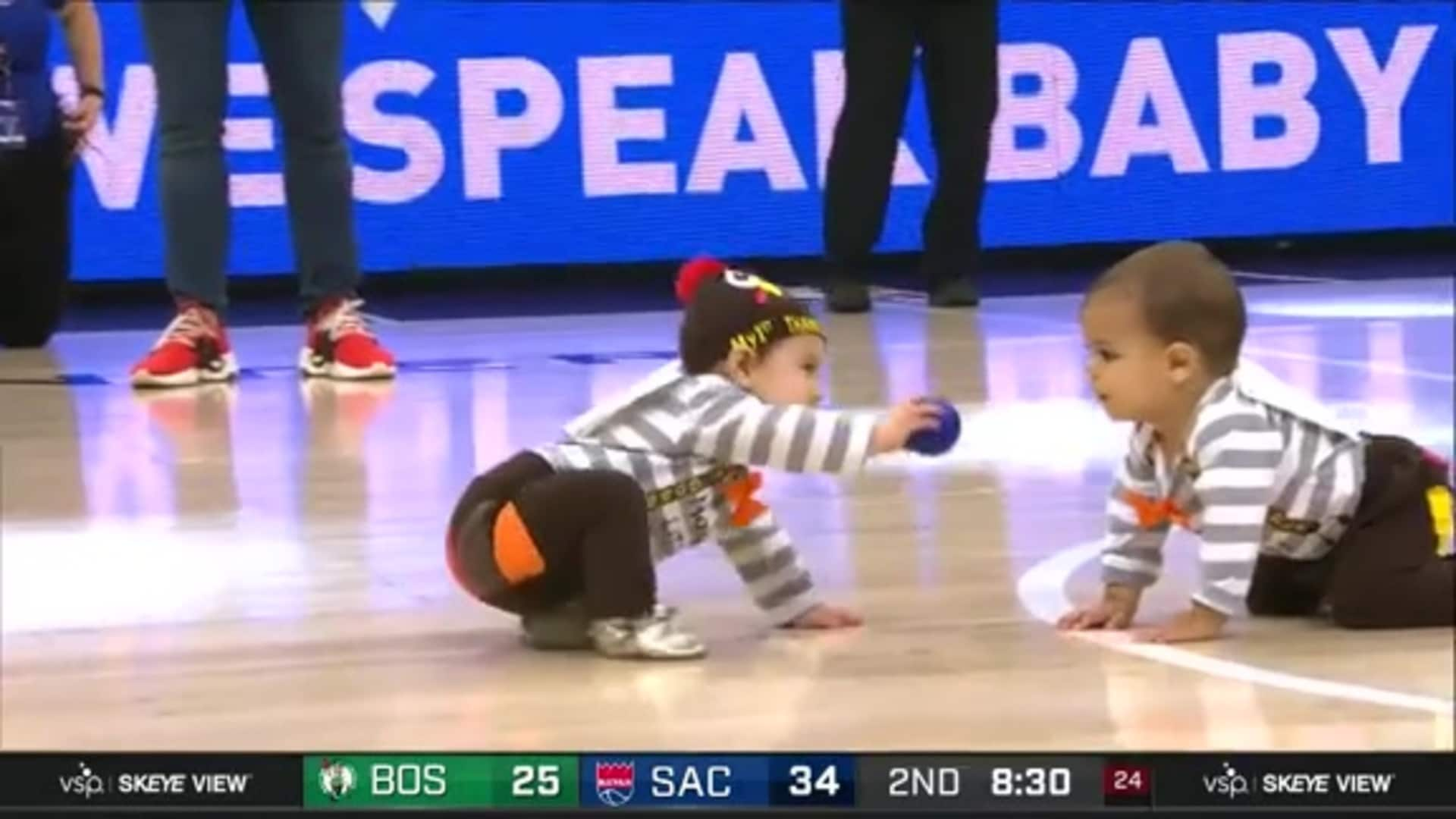 WHAT A PHOTO FINISH! | Sacramento Kings Baby Race