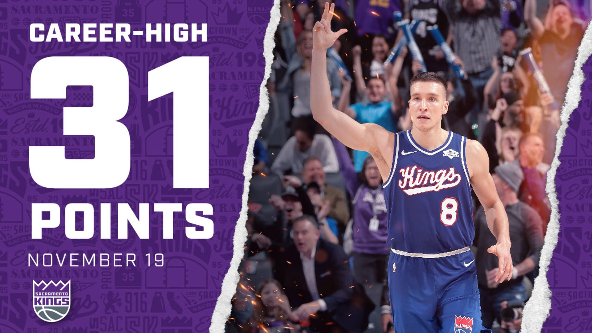 Bogi Finishes with a CAREER-HIGH 31 Points | Kings vs Suns