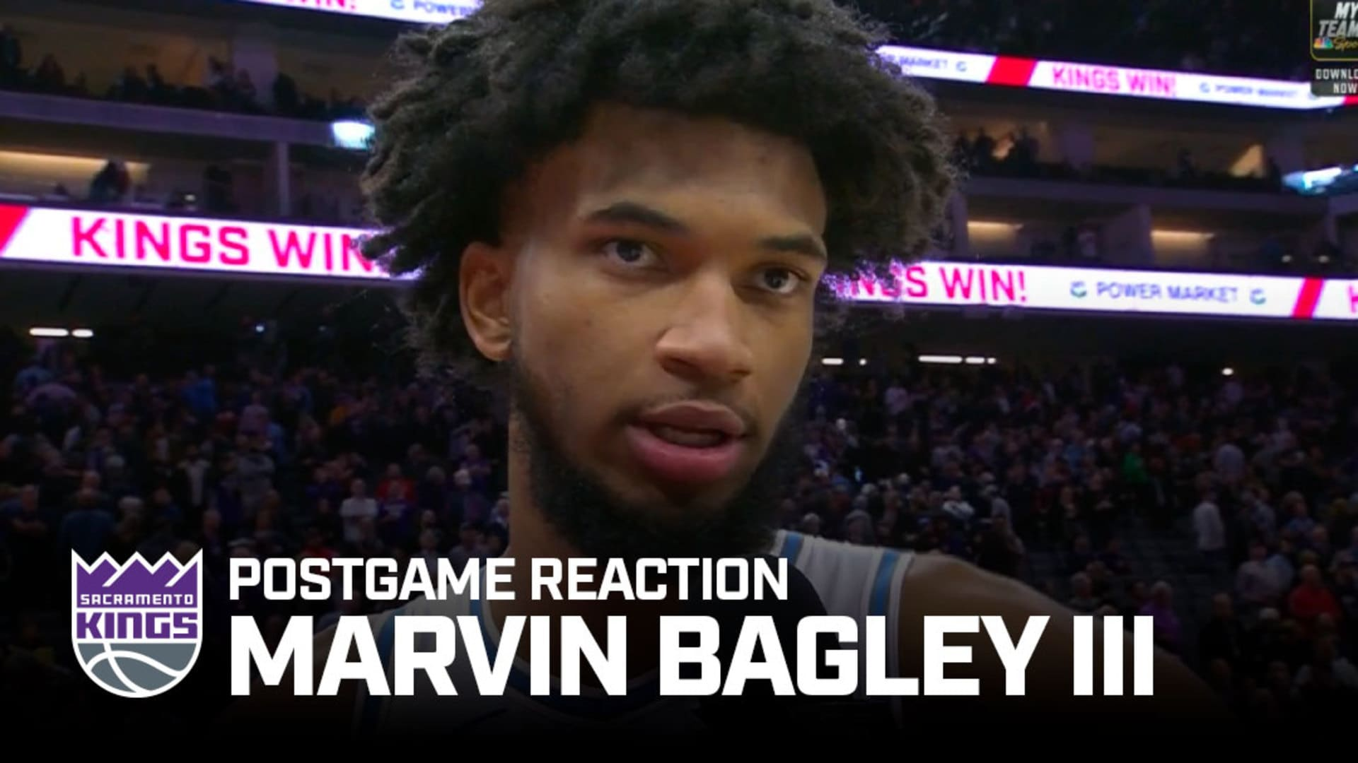 'We're Coming Together' | Marvin Bagley III Postgame Reaction 12.11.19