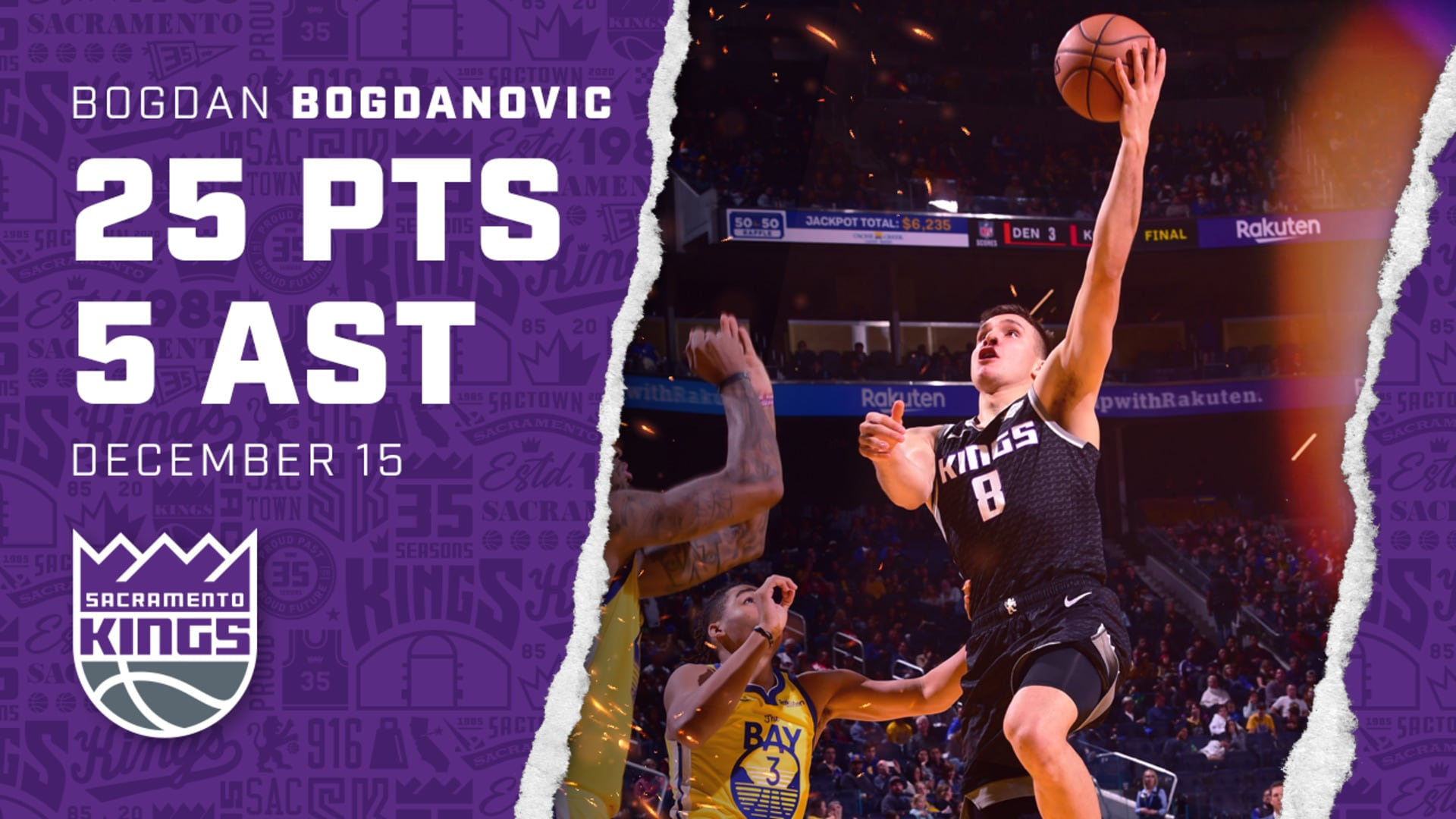Bogi Racks Up a Game-High 25 PTS in Rout of Warriors