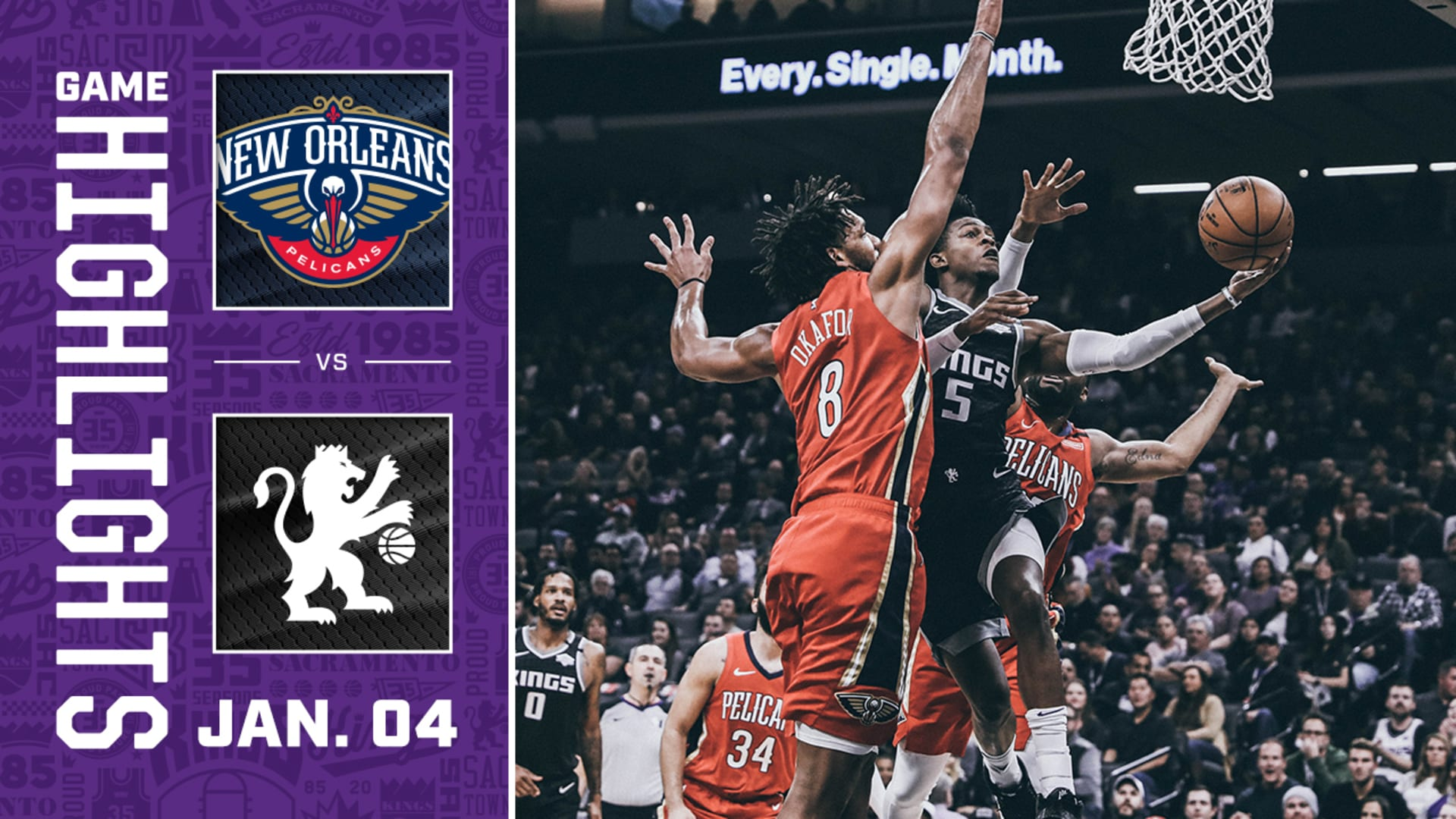 Kings Battle Pelicans to the Last Second