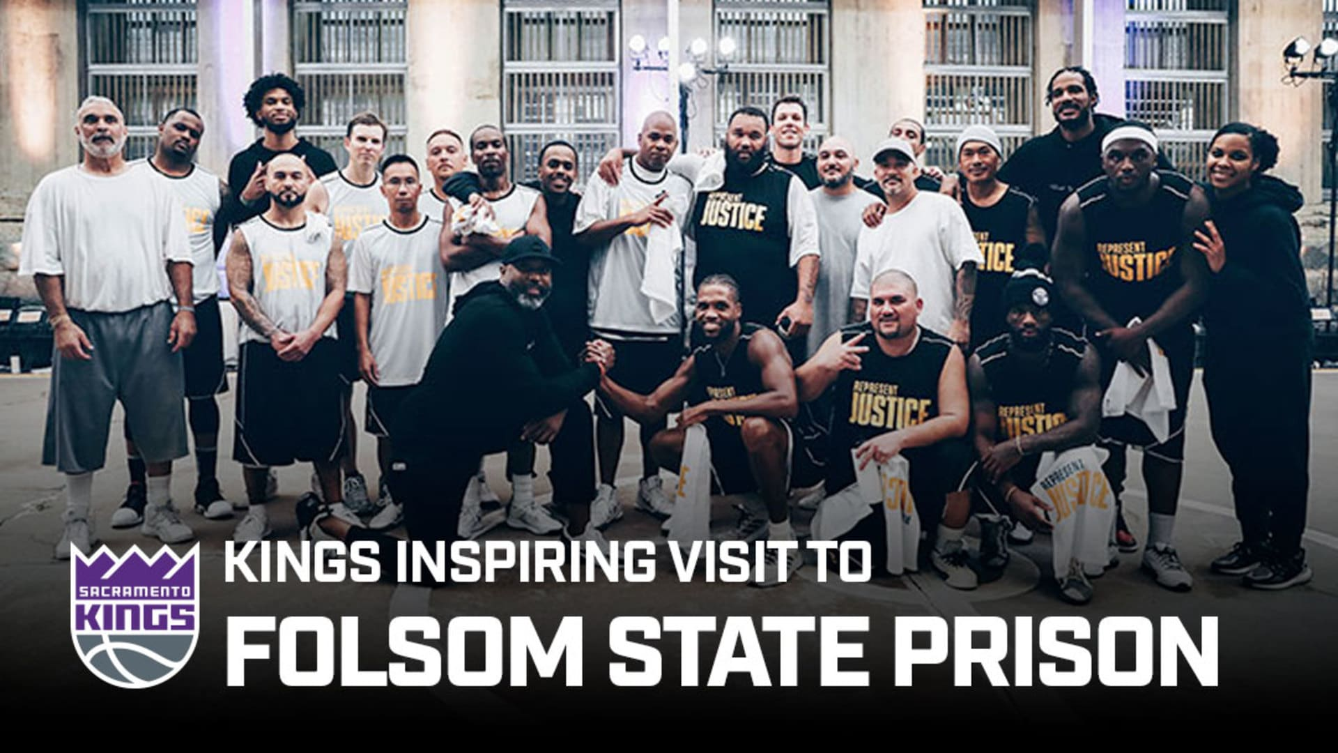 Kings Visit Folsom State Prison in First Ever 'Play for Justice' Event