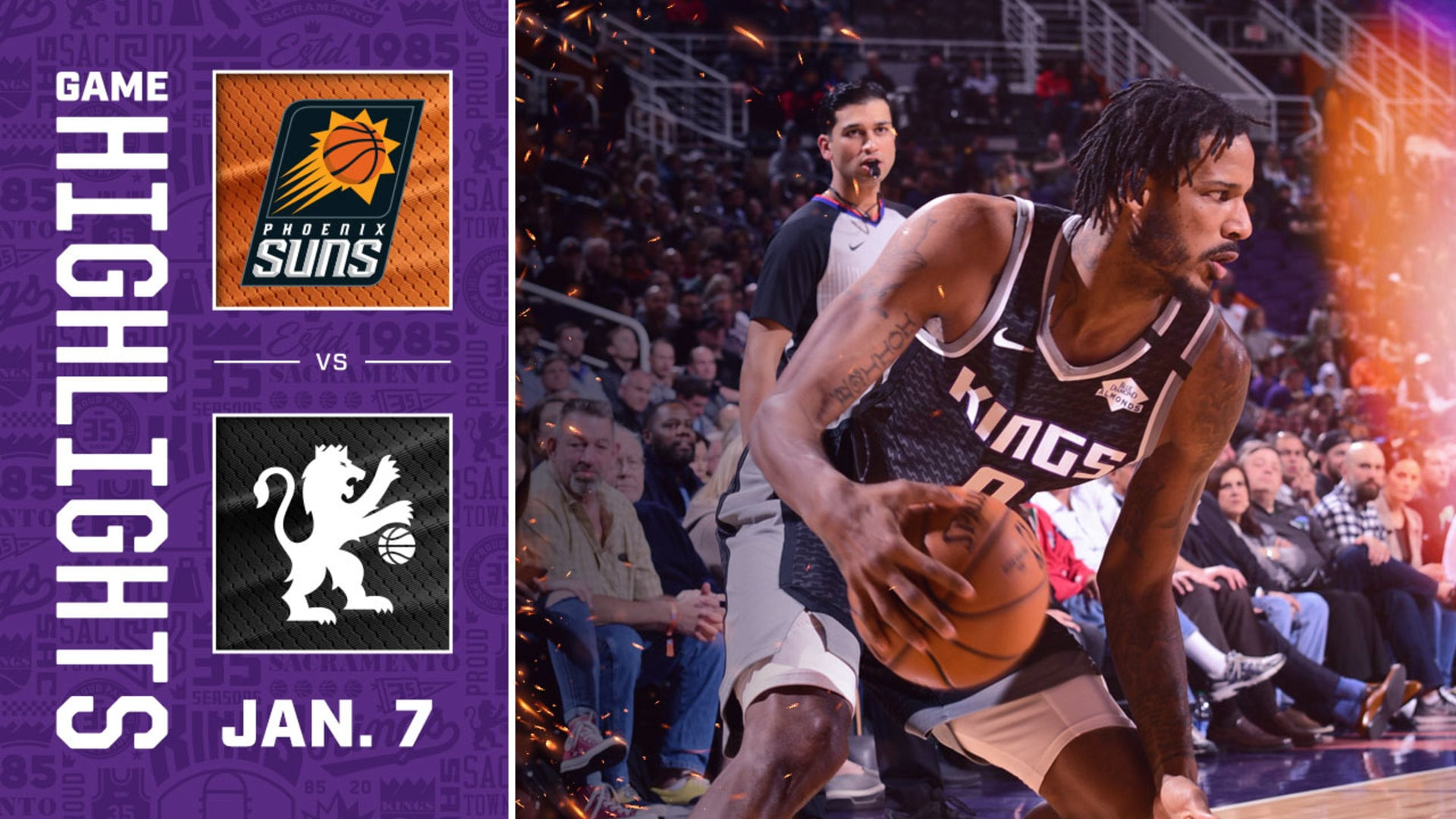 COMEBACK! Kings Erase 21 Point Deficit | Kings vs Suns 1.7.20