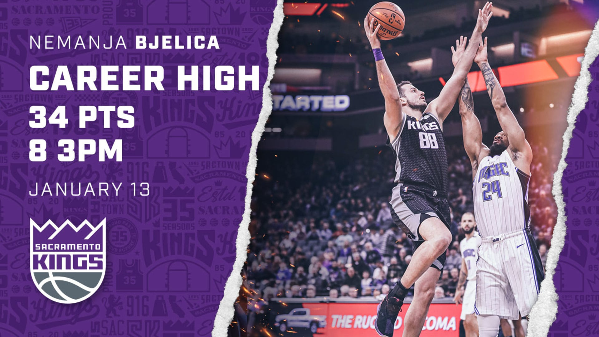 Bjelica with a CAREER-HIGH 34 PTS! | Kings vs Magic