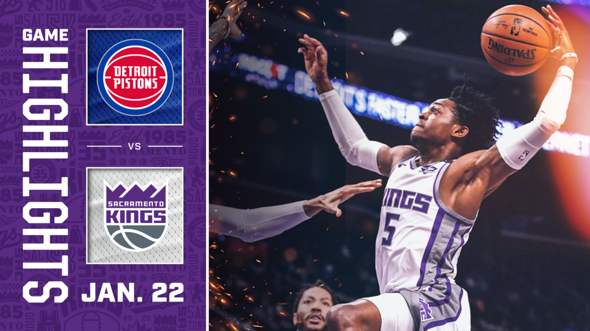 Kings Come Up Short in the Motor City | Kings vs Pistons