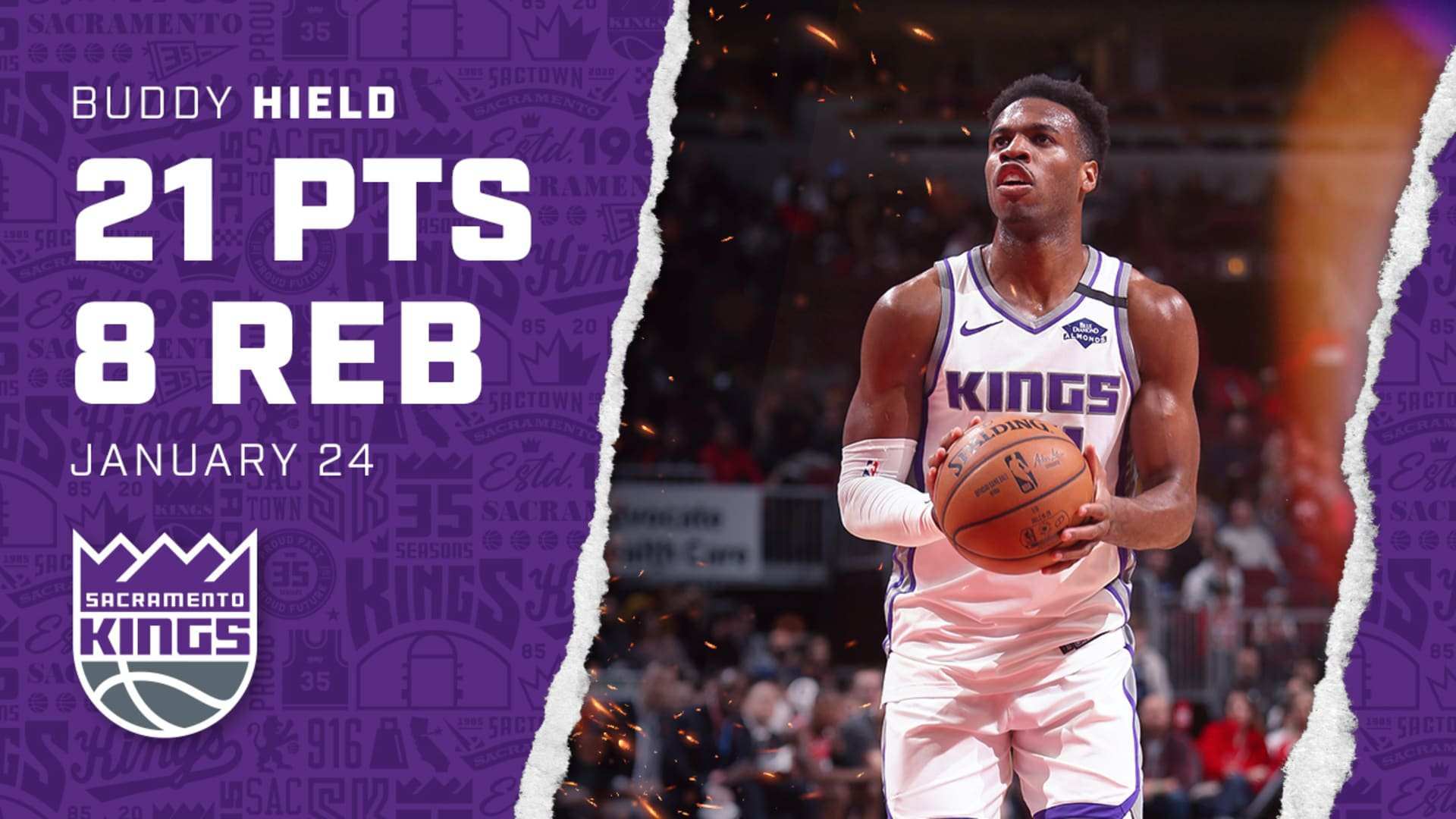 Buddy Helps Lead the Squad to Victory! | Kings vs Bulls 1.24.20