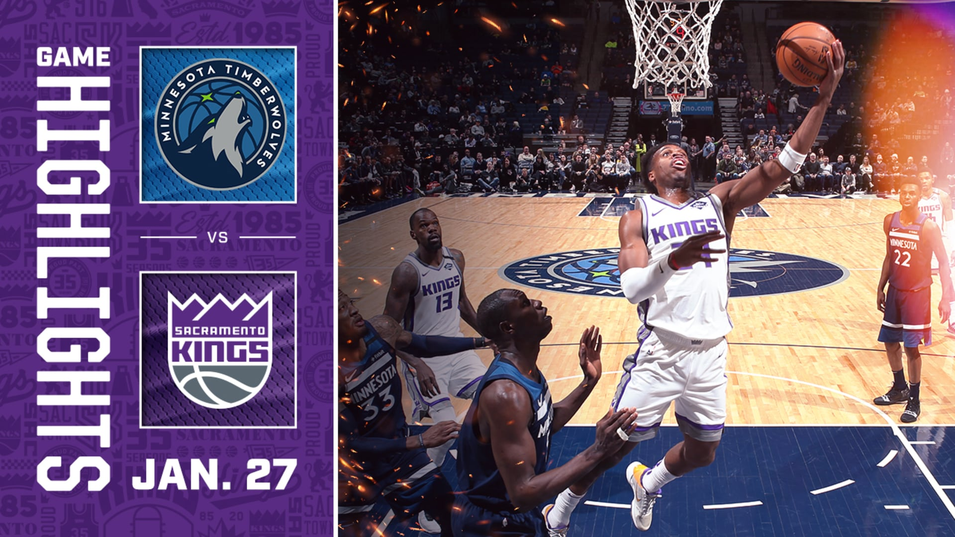 Kings Win in OT For Record-Breaking Night | Kings v Timberwolves