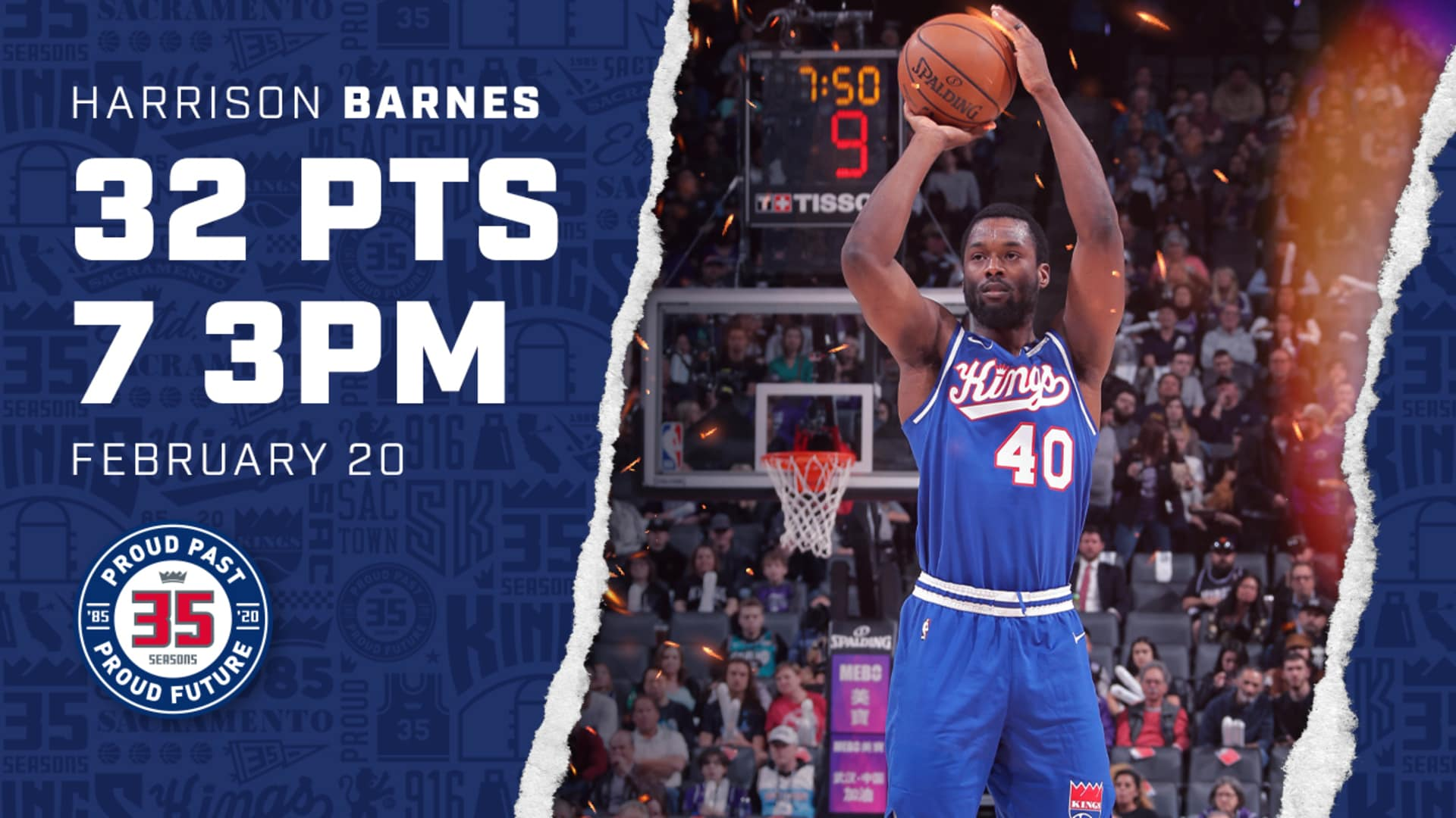 Harrison Barnes Leads Squad with 32 PTS! | Kings vs Grizzlies