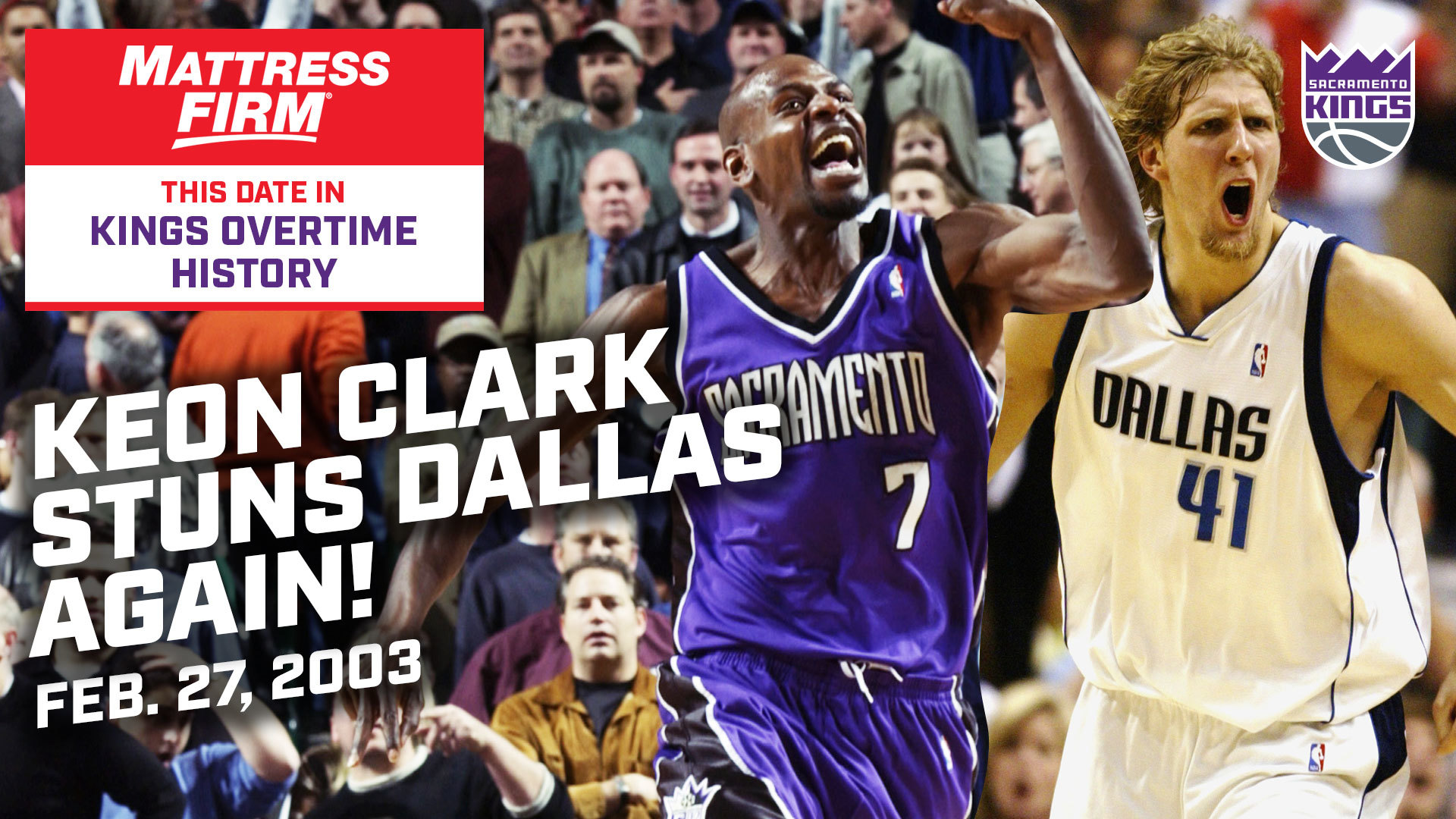 This Date in Kings OT History: Clark Stuns Dallas (AGAIN!) 2.23.2003