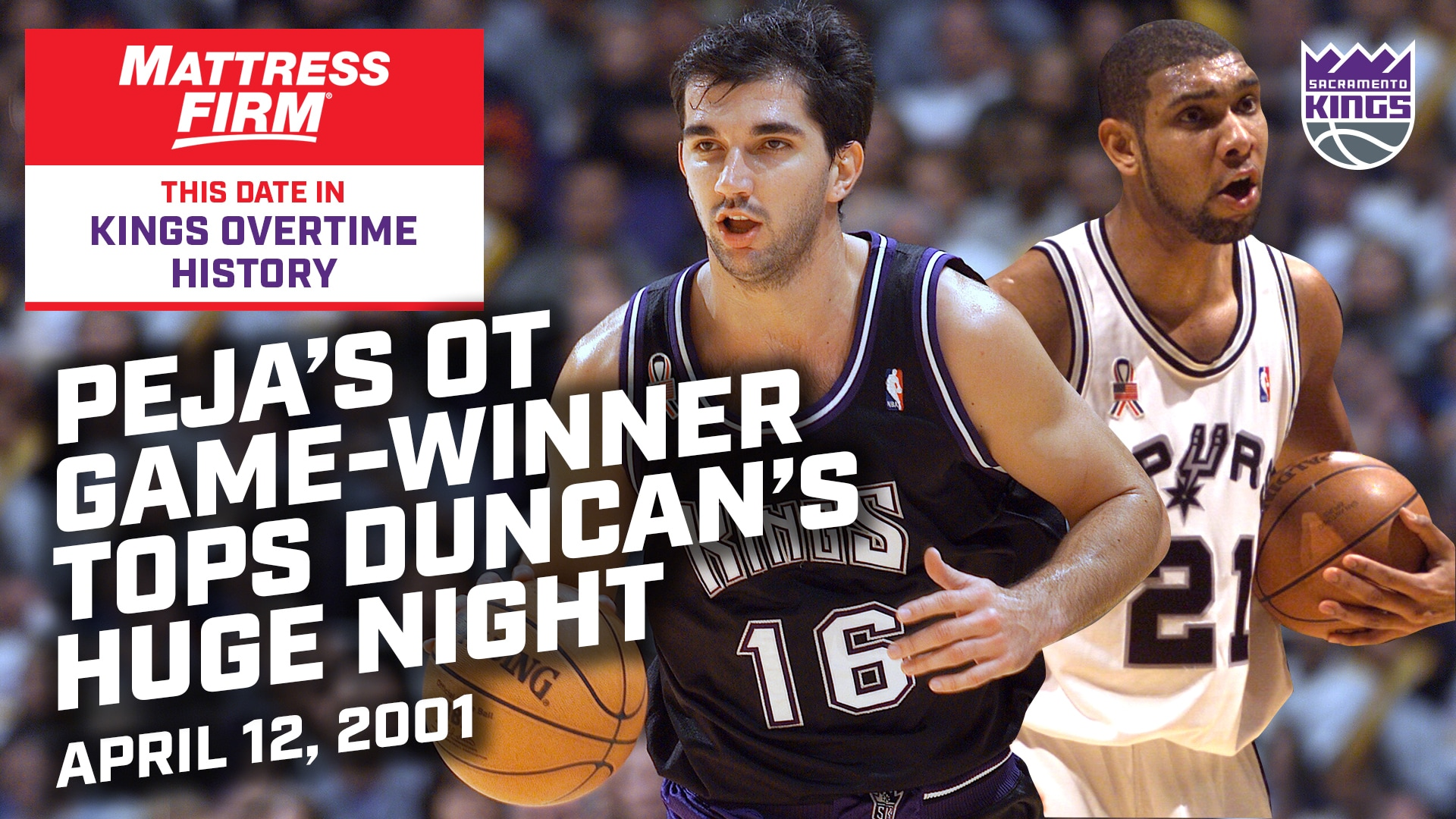 This Date in Kings OT History: Peja's Game-Winner Tops Duncan's 42