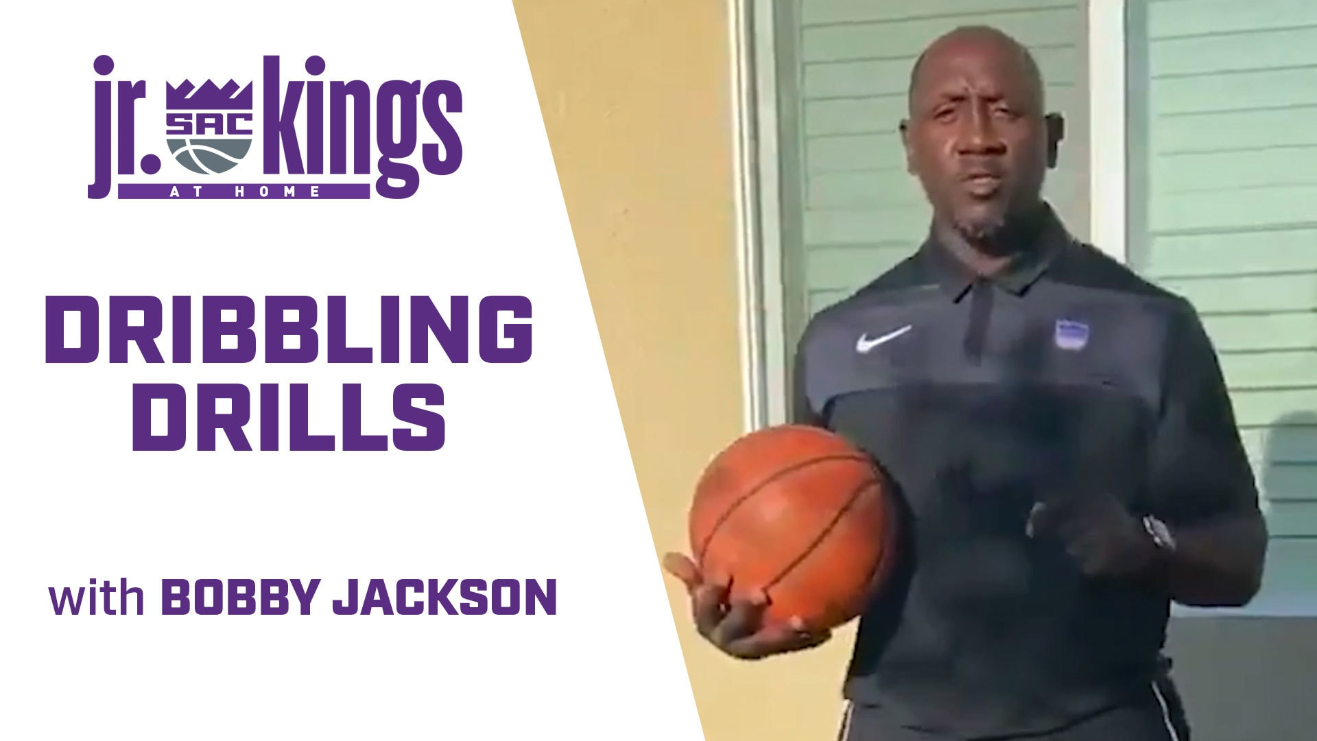 Jr. Kings at Home | Dribbling Drills with Bobby Jackson