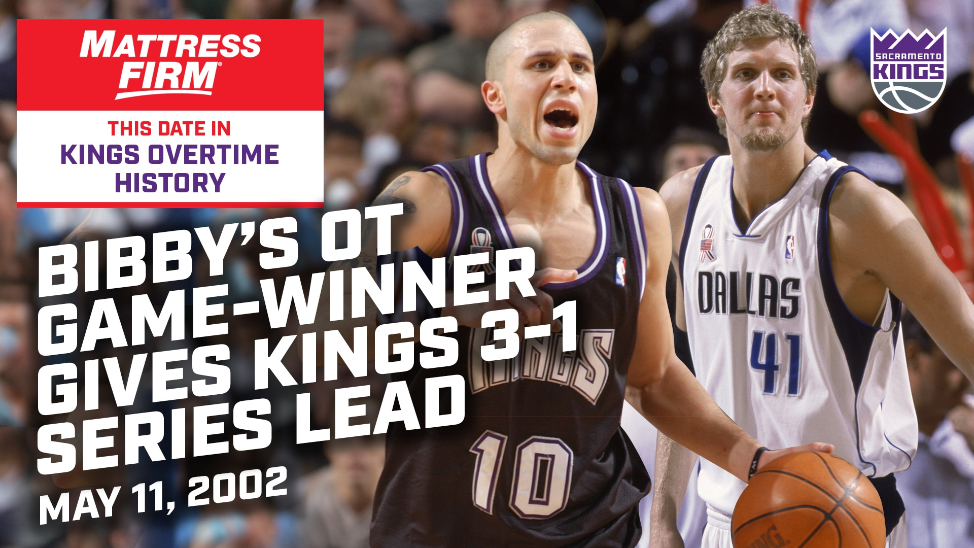 This Date in Kings OT History: Bibby's Playoff Game-Winner in Dallas | 5.11.02