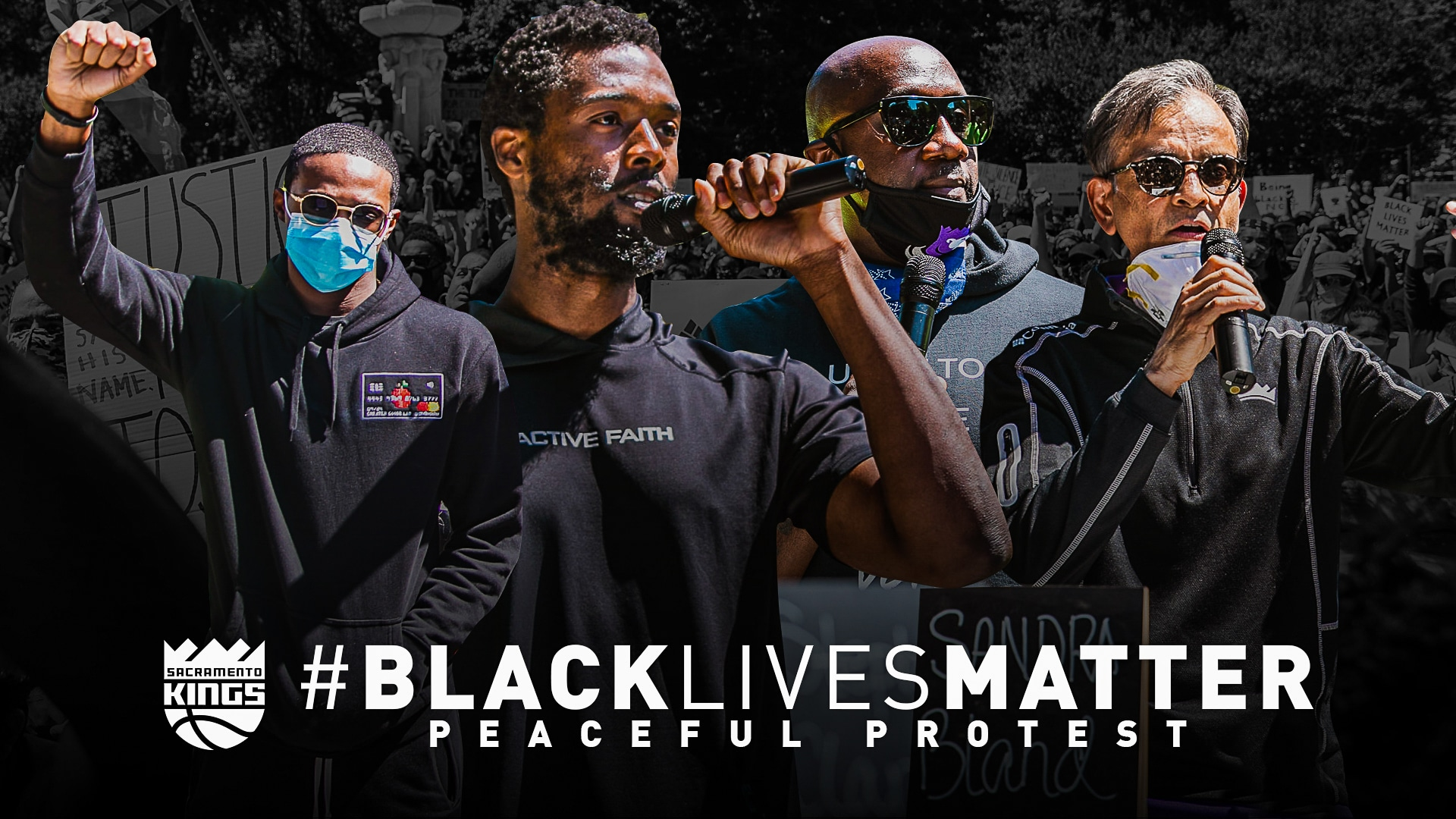 Kings Join Black Lives Matter Peaceful Protest